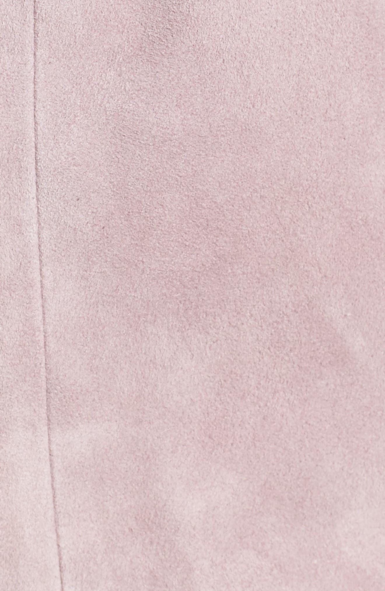 Suede Moto Jacket,                             Alternate thumbnail 6, color,                             Purple Quail