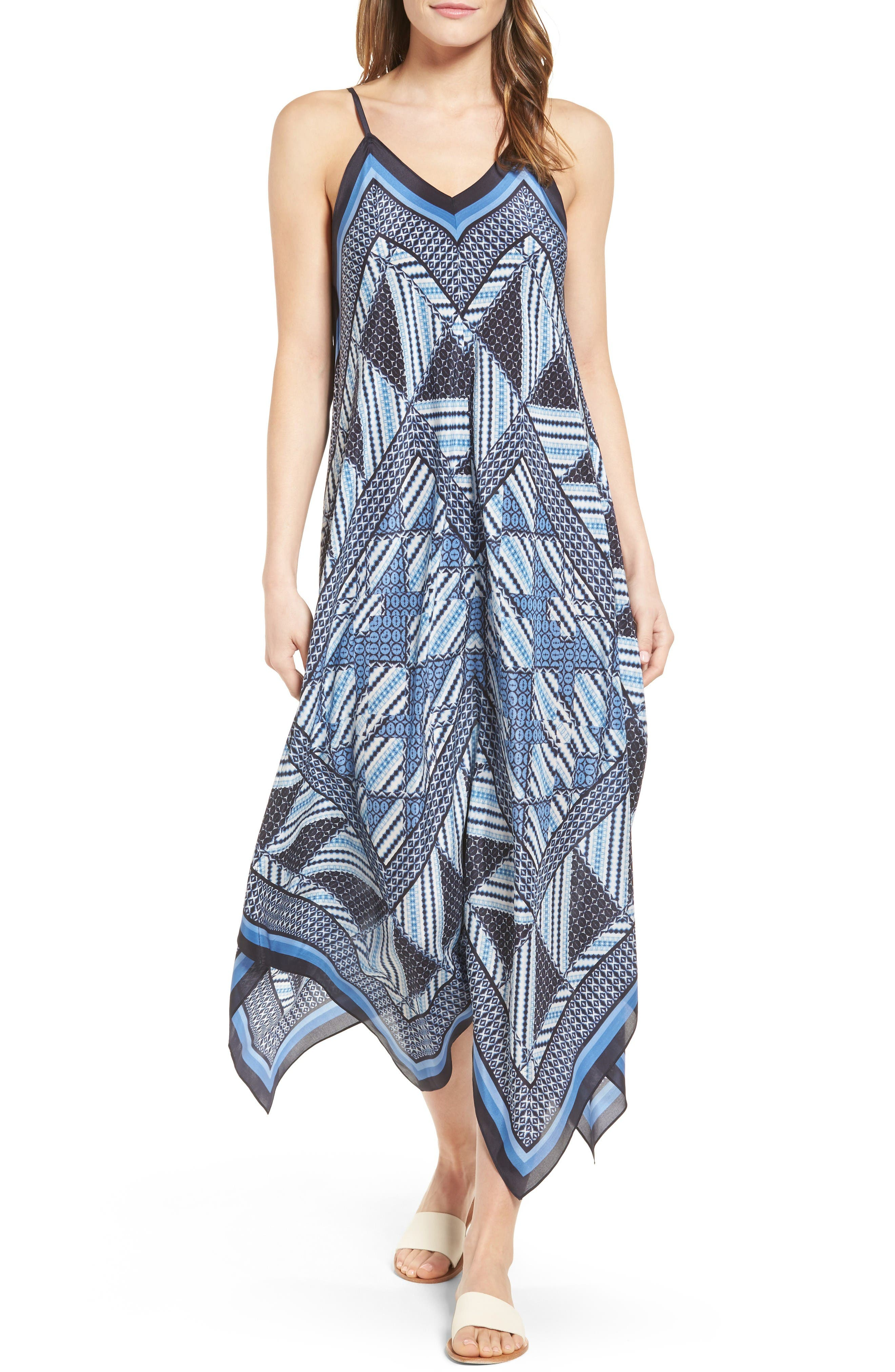 Main Image - NIC+ZOE Calypso Silk Blend Maxi Dress (Regular & Petite)