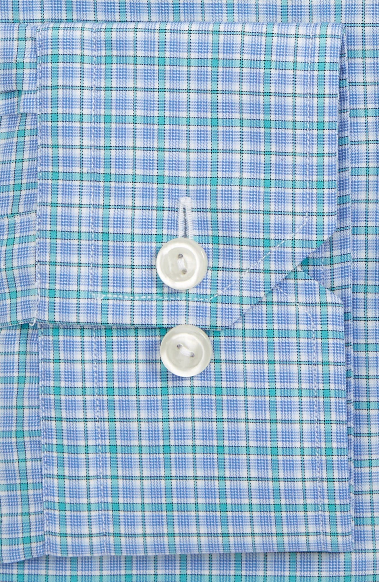 Contemporary Fit Check Dress Shirt,                             Alternate thumbnail 2, color,                             Blue/ Green Check