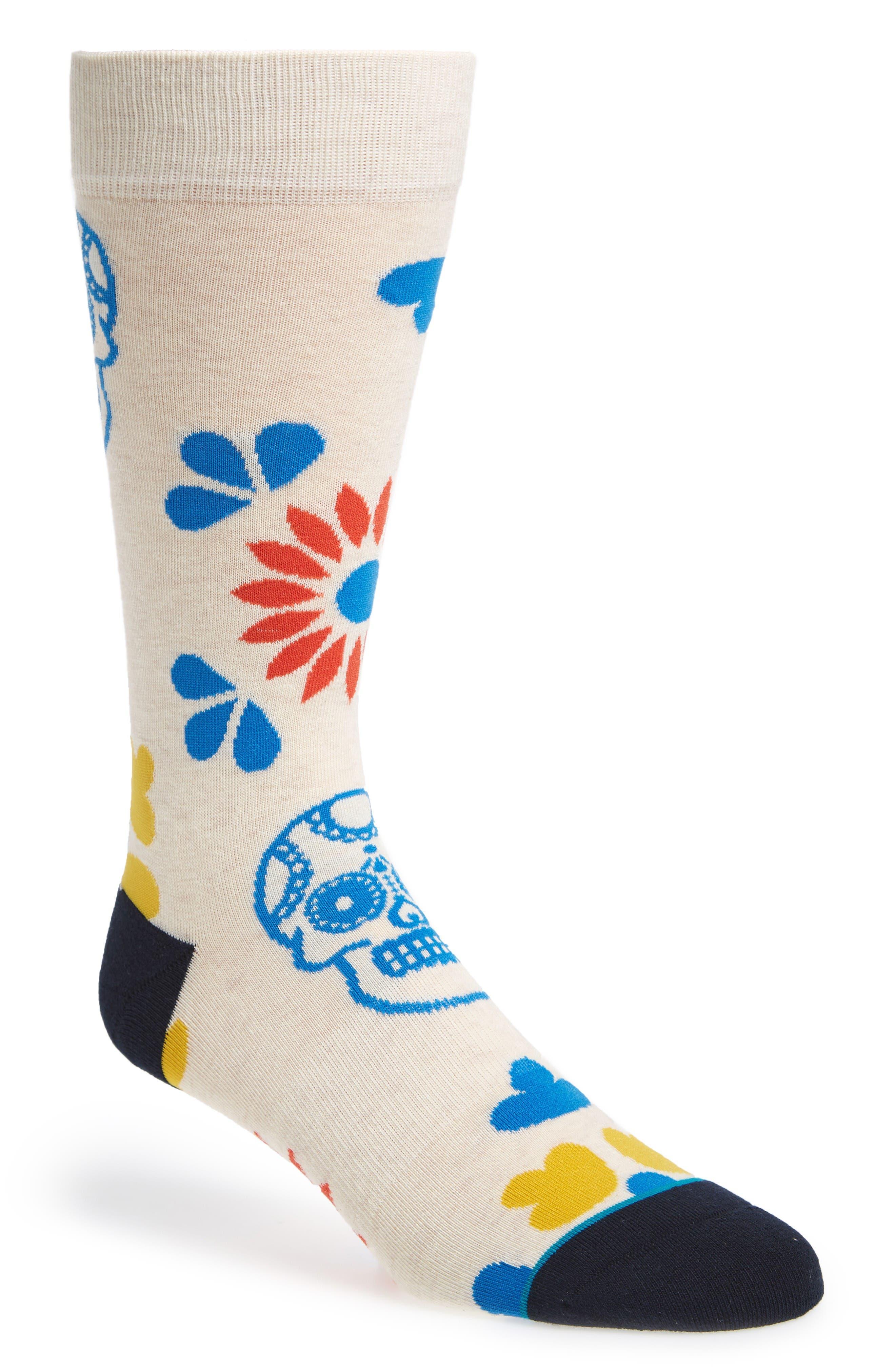 Dia Crew Socks,                         Main,                         color, White