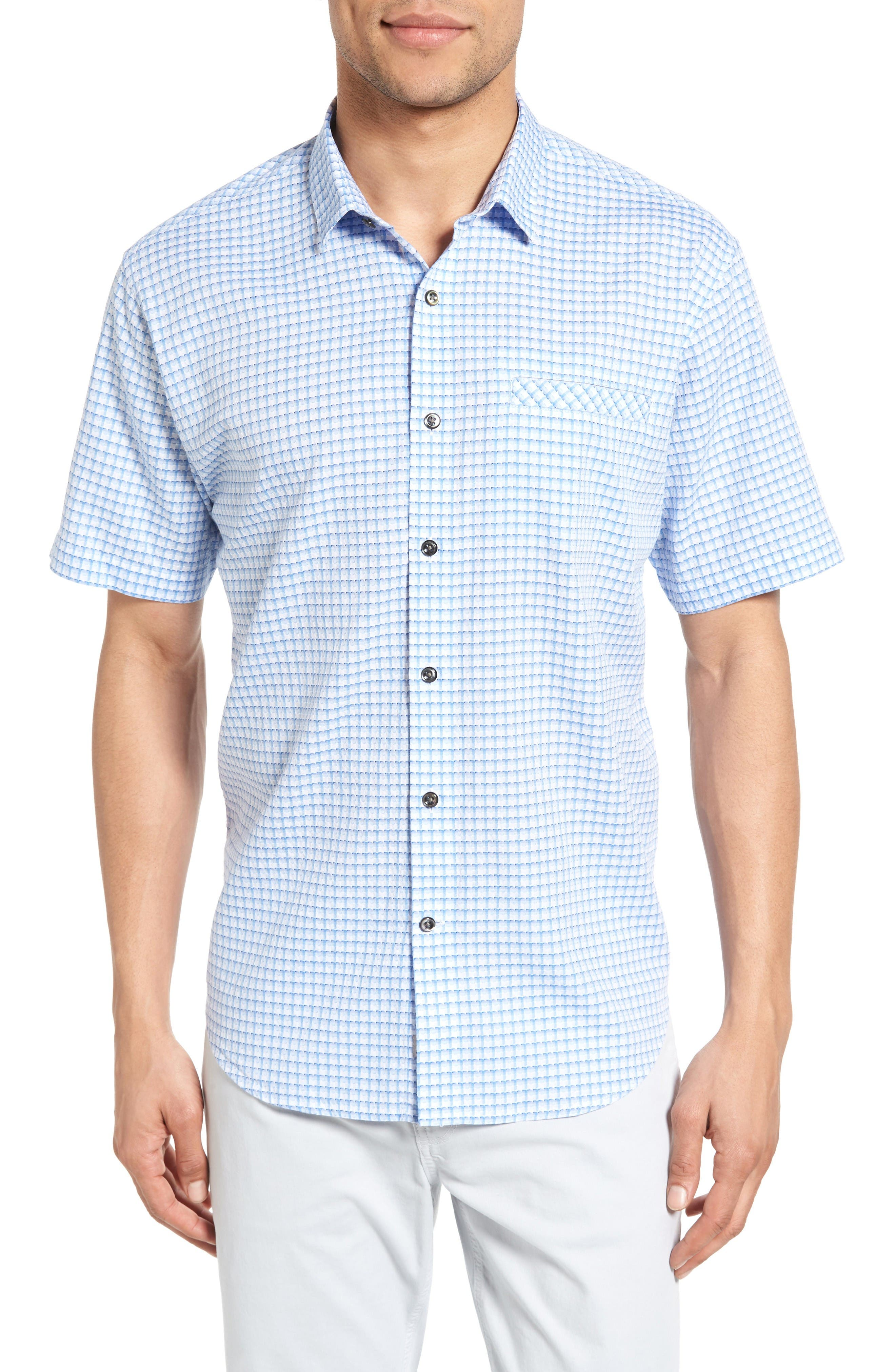 "James Campbell Miranda Check30 1/2"" length; 45"" chest (size Medium) Sport Shirt"