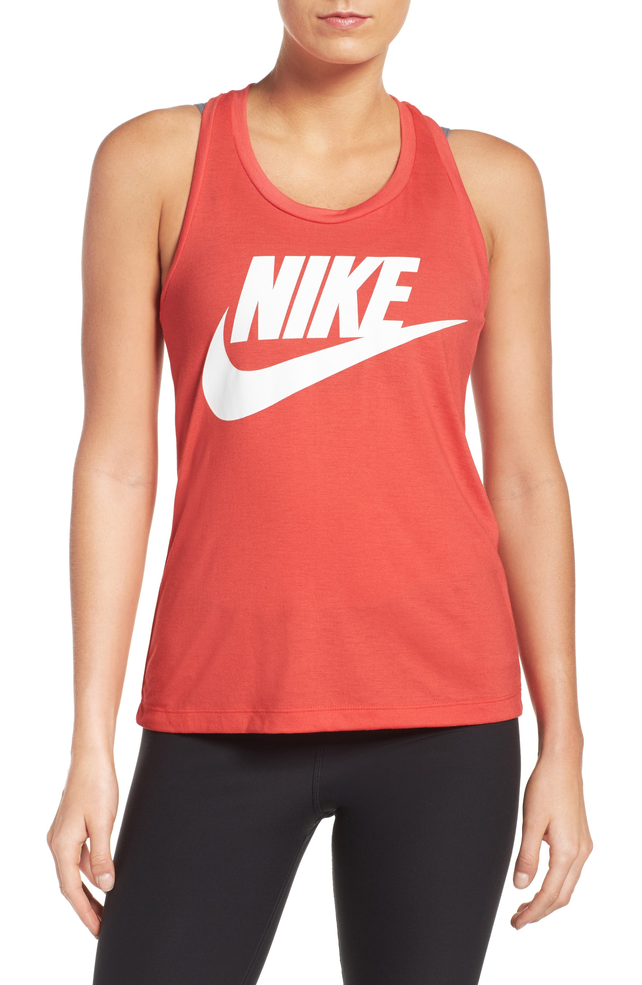 Essential Logo Tank,                             Main thumbnail 1, color,                             Track Red/ Track Red/ White