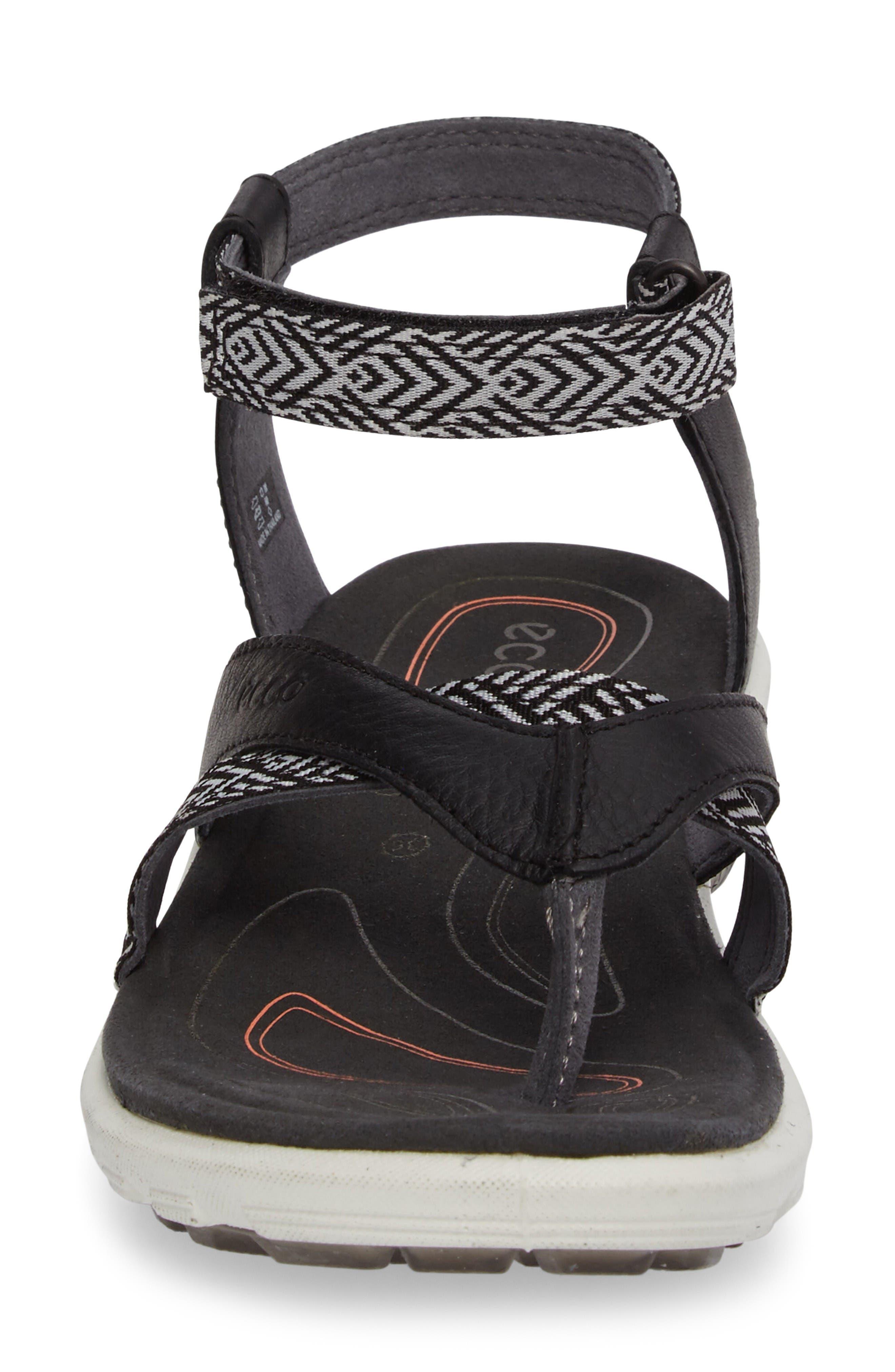 Cruise Sport Sandal,                             Alternate thumbnail 4, color,                             Black Leather