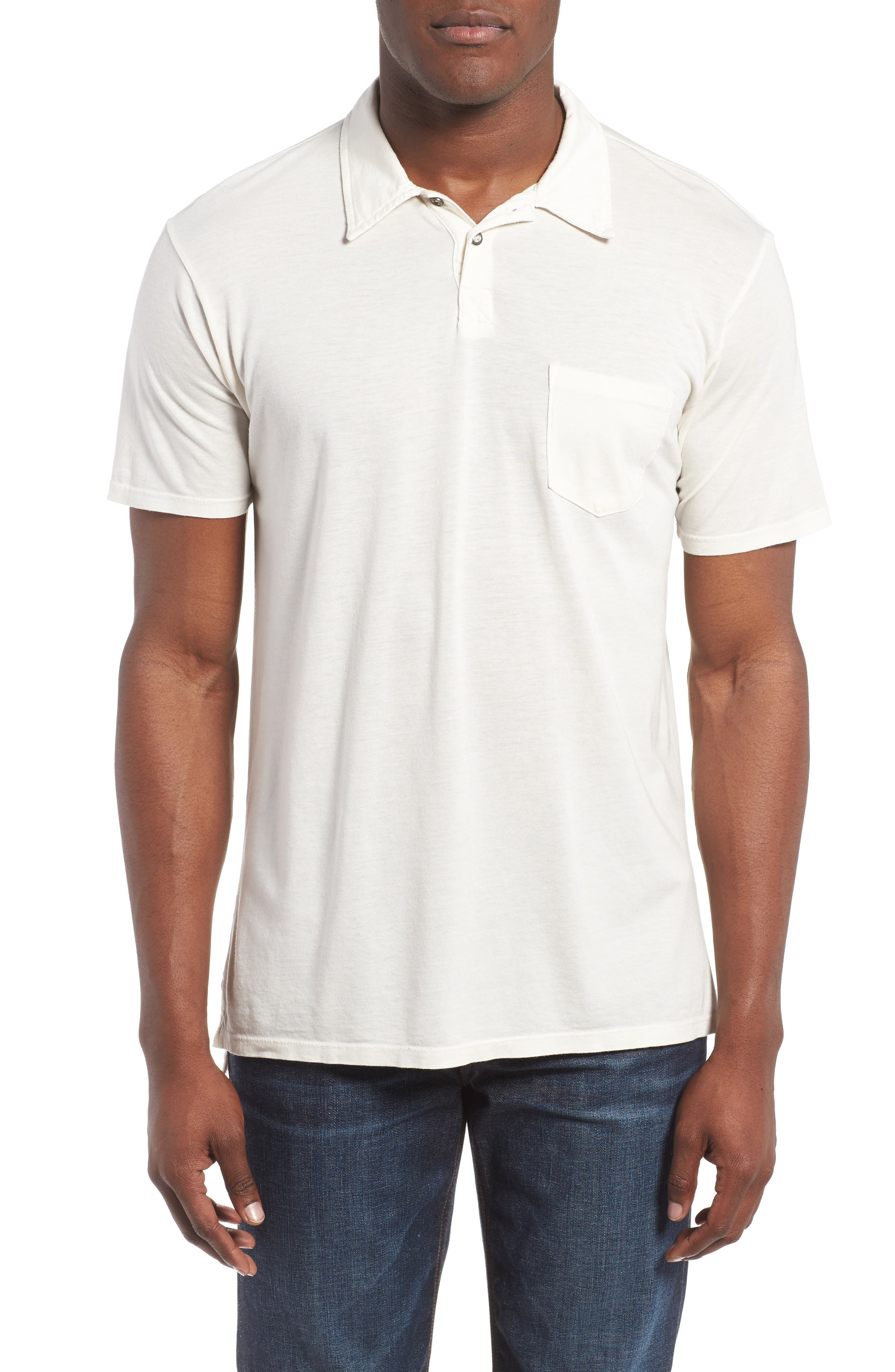 Essential Jersey Polo,                         Main,                         color, D White