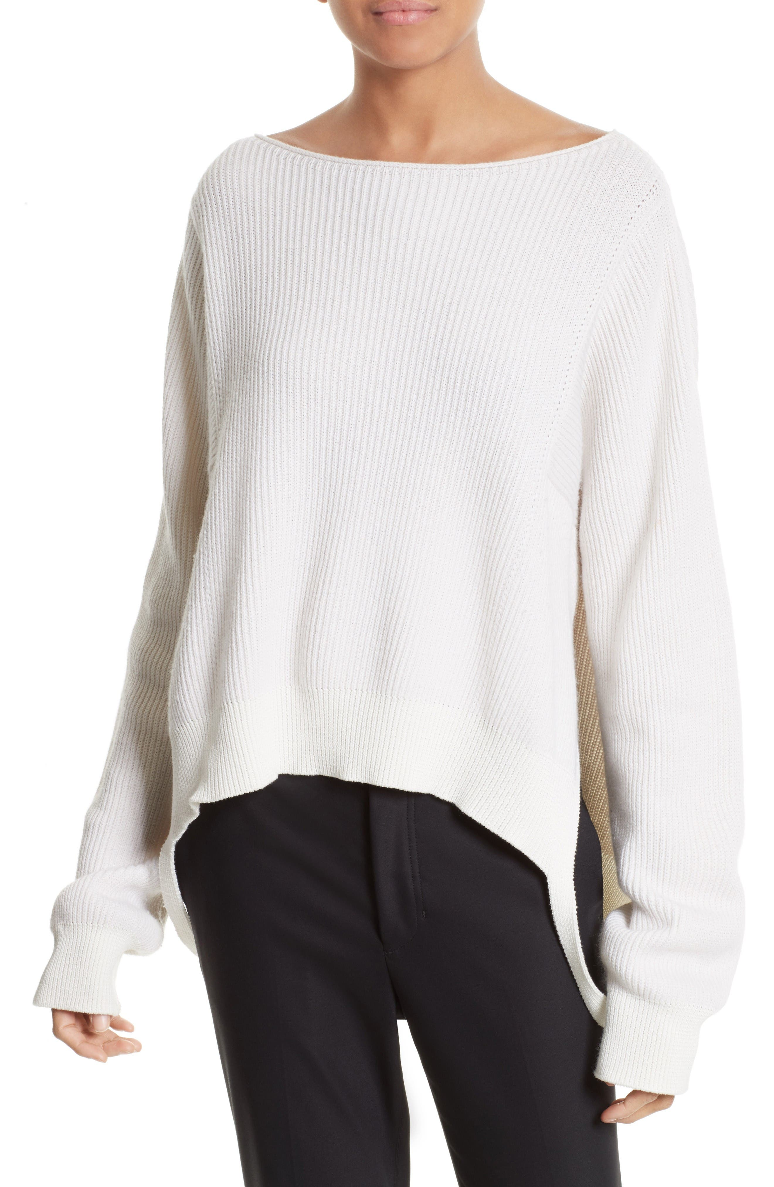 Side Strap Pullover,                         Main,                         color, Ivory