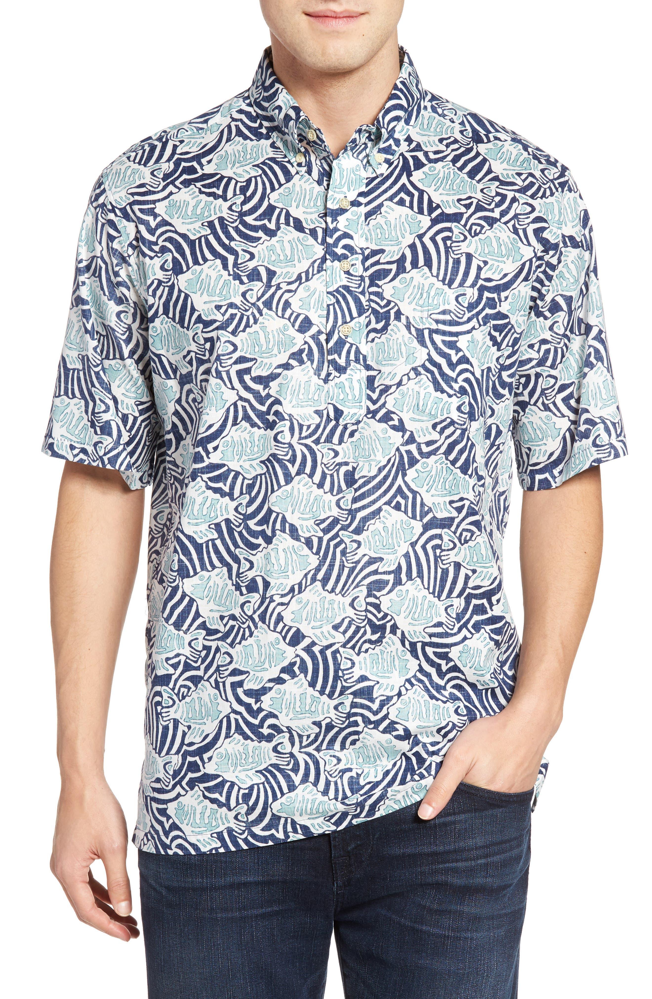 Reyn Spooner Loko Kuapa Print Sport Shirt