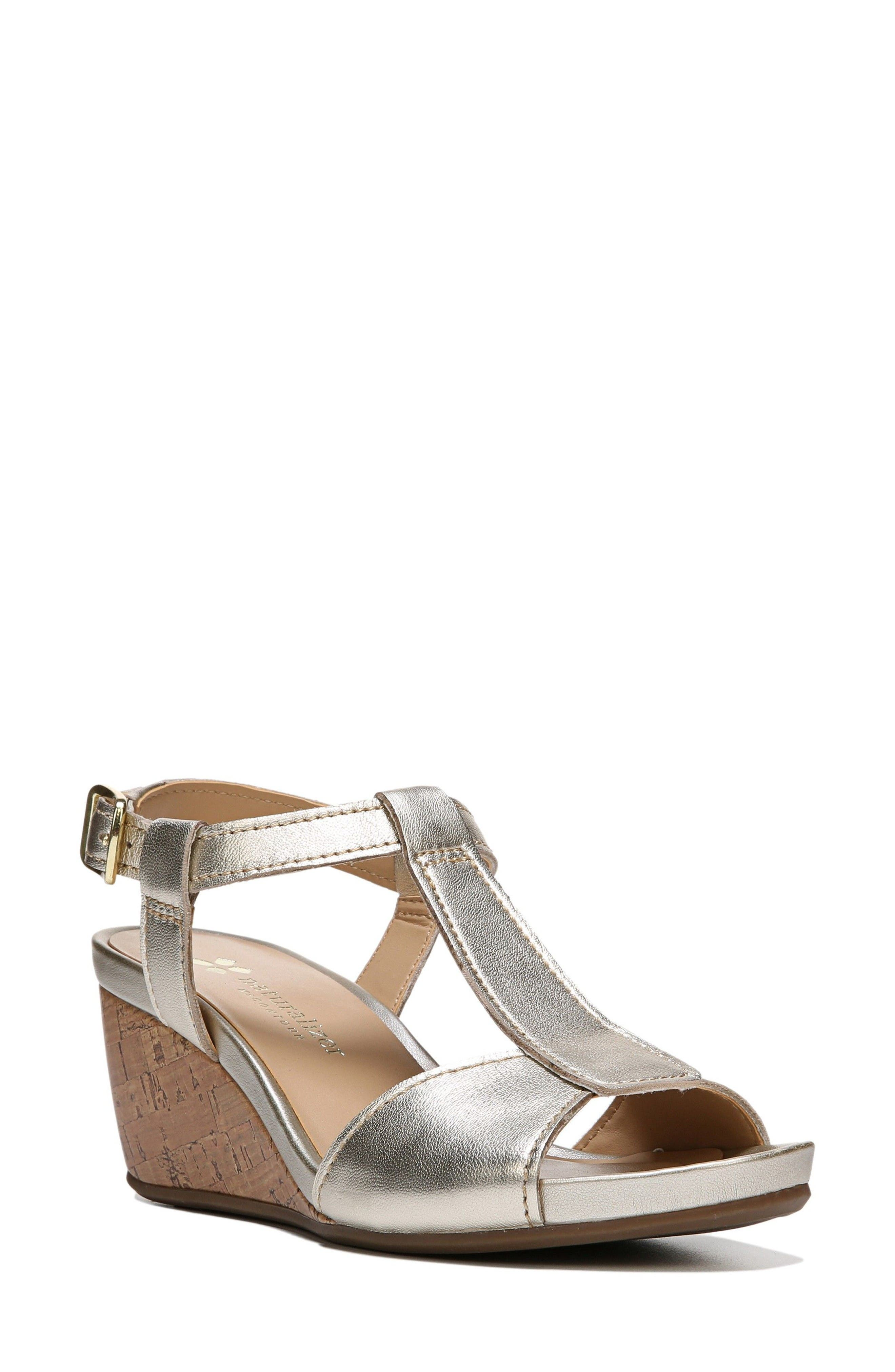 Alternate Image 1 Selected - Naturalizer Camilla Wedge Sandal (Women)