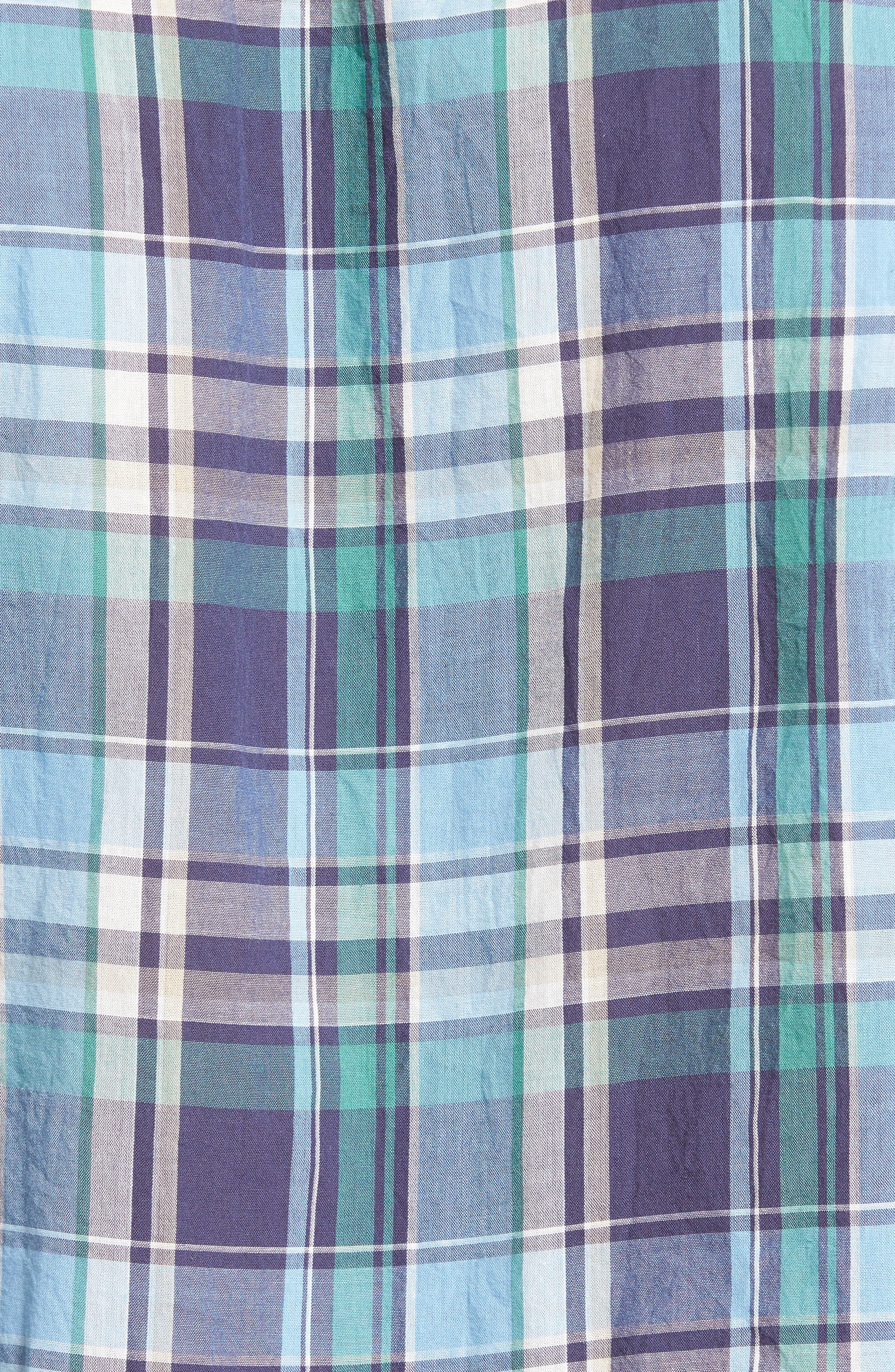 Alternate Image 5  - Tailor Vintage Crinkle Plaid Sport Shirt