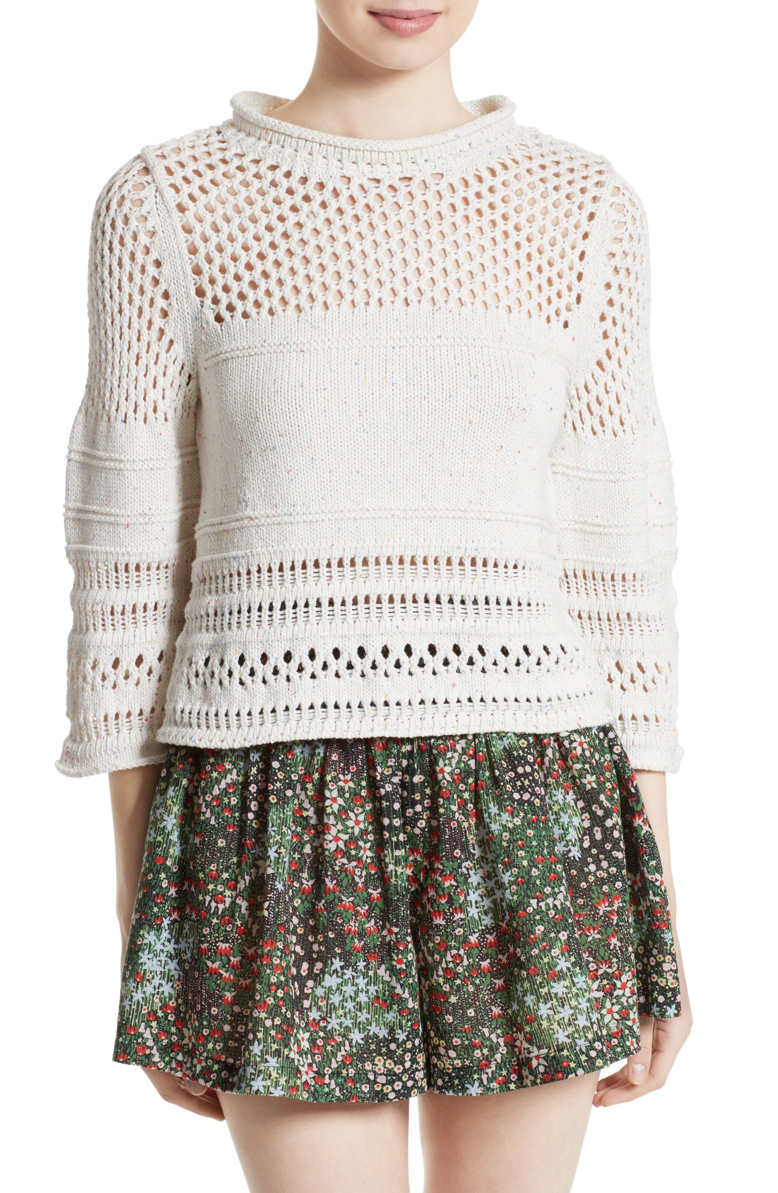 Alternate Image 1 Selected - La Vie Rebecca Taylor Confetti Knit Pullover