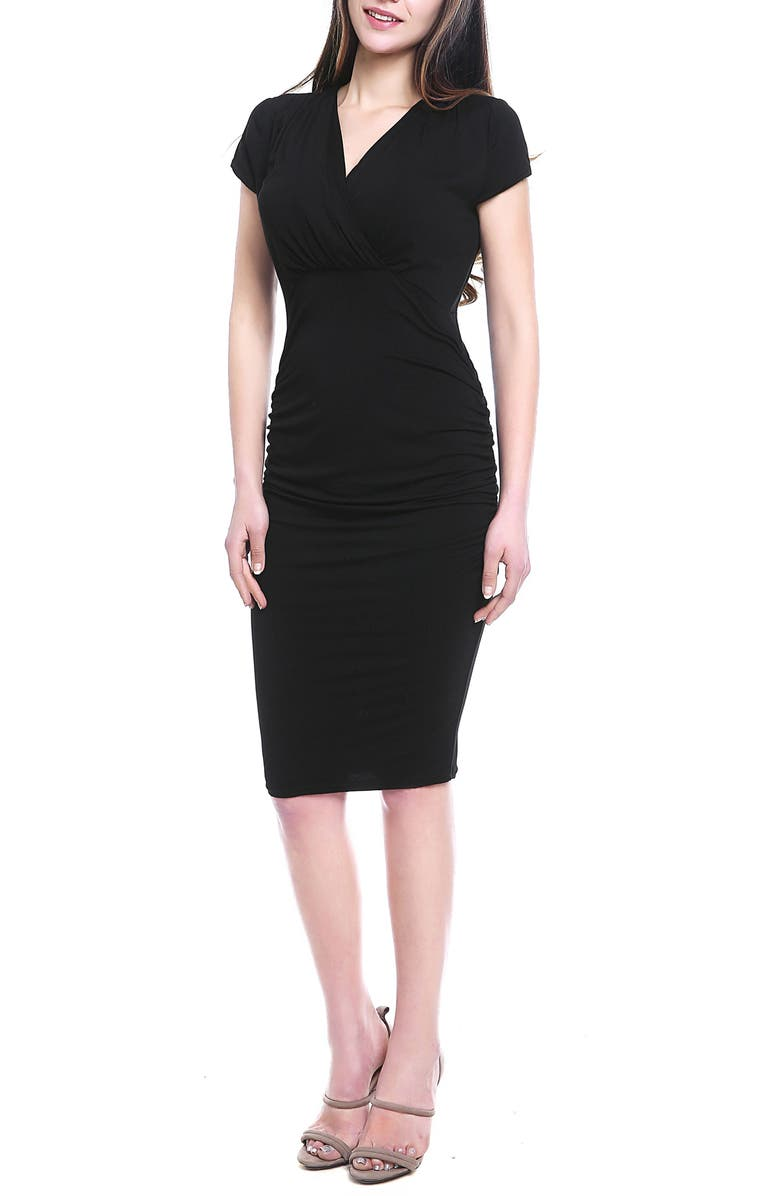 Kristen Ruched Maternity/Nursing Dress