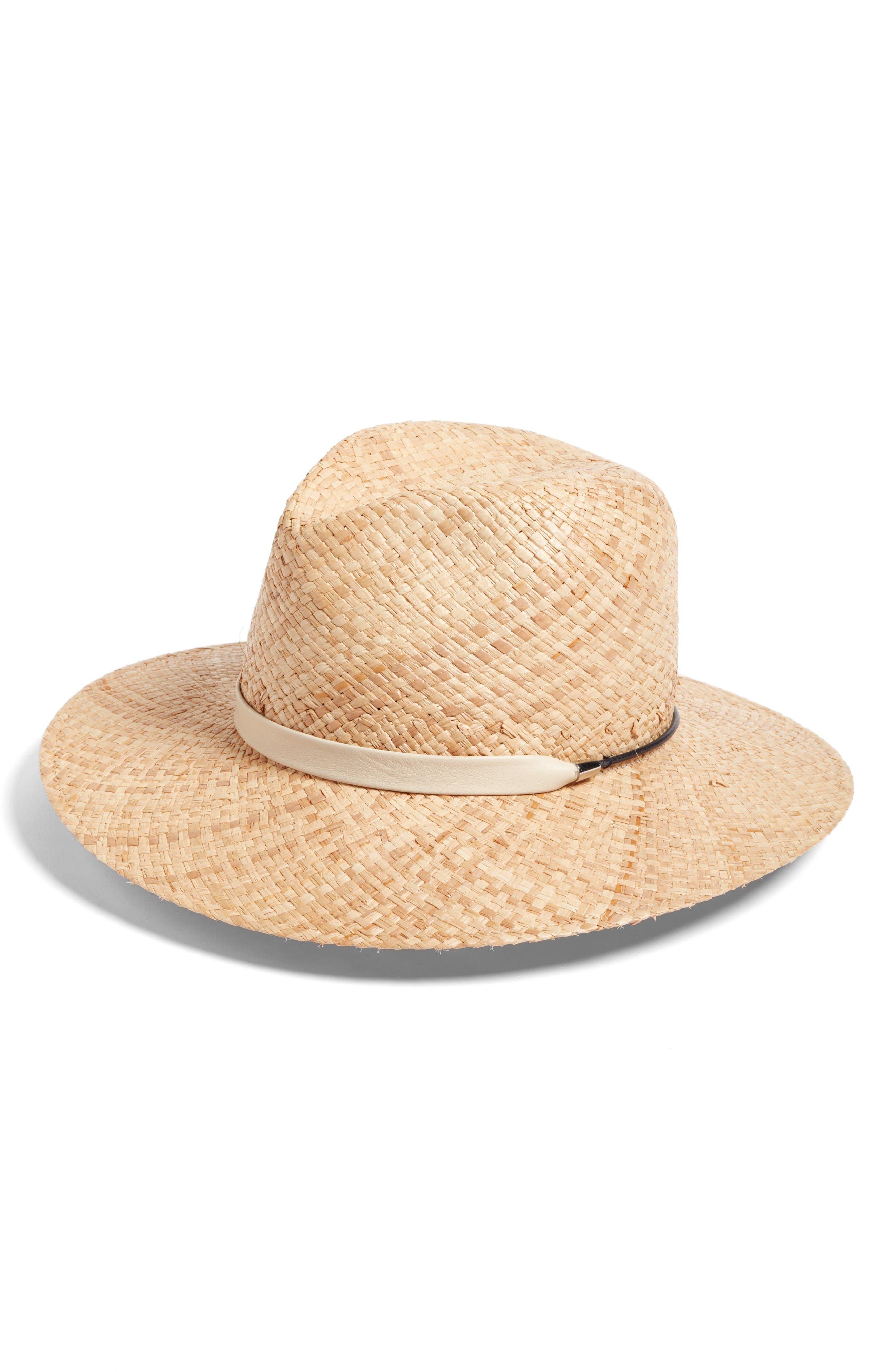 Alternate Image 1 Selected - rag & bone Wide Brim Raffia Hat