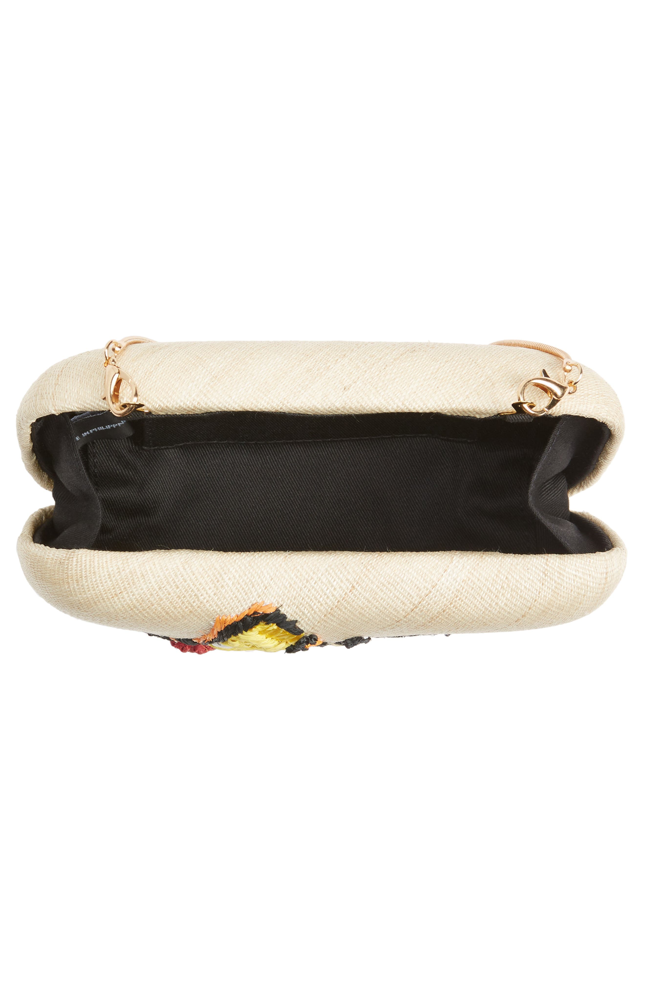 Alternate Image 4  - Franchi Flutter Embroidered Butterfly Box Clutch