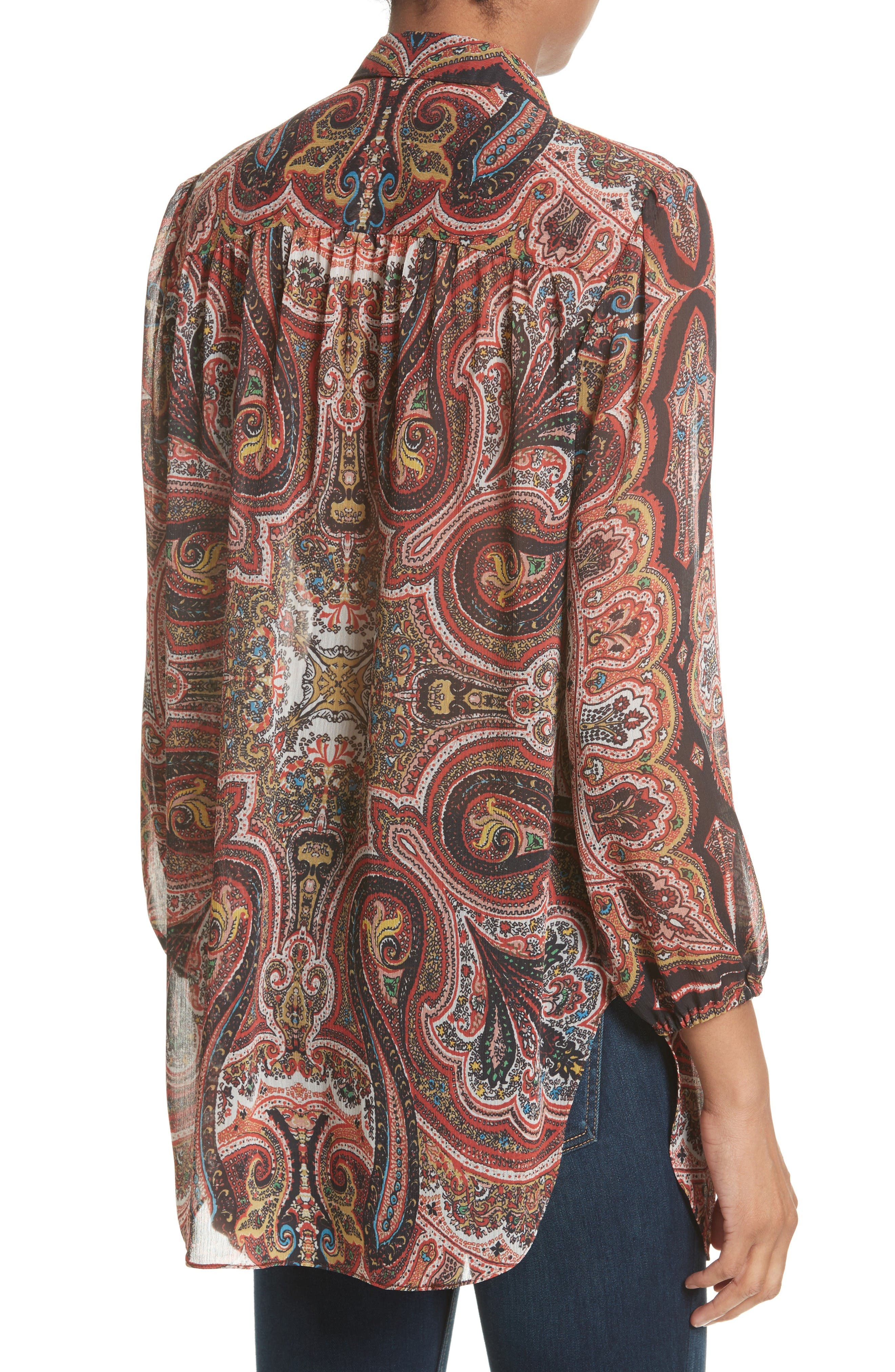 Sterling Tunic,                             Alternate thumbnail 2, color,                             Paisley Scarf