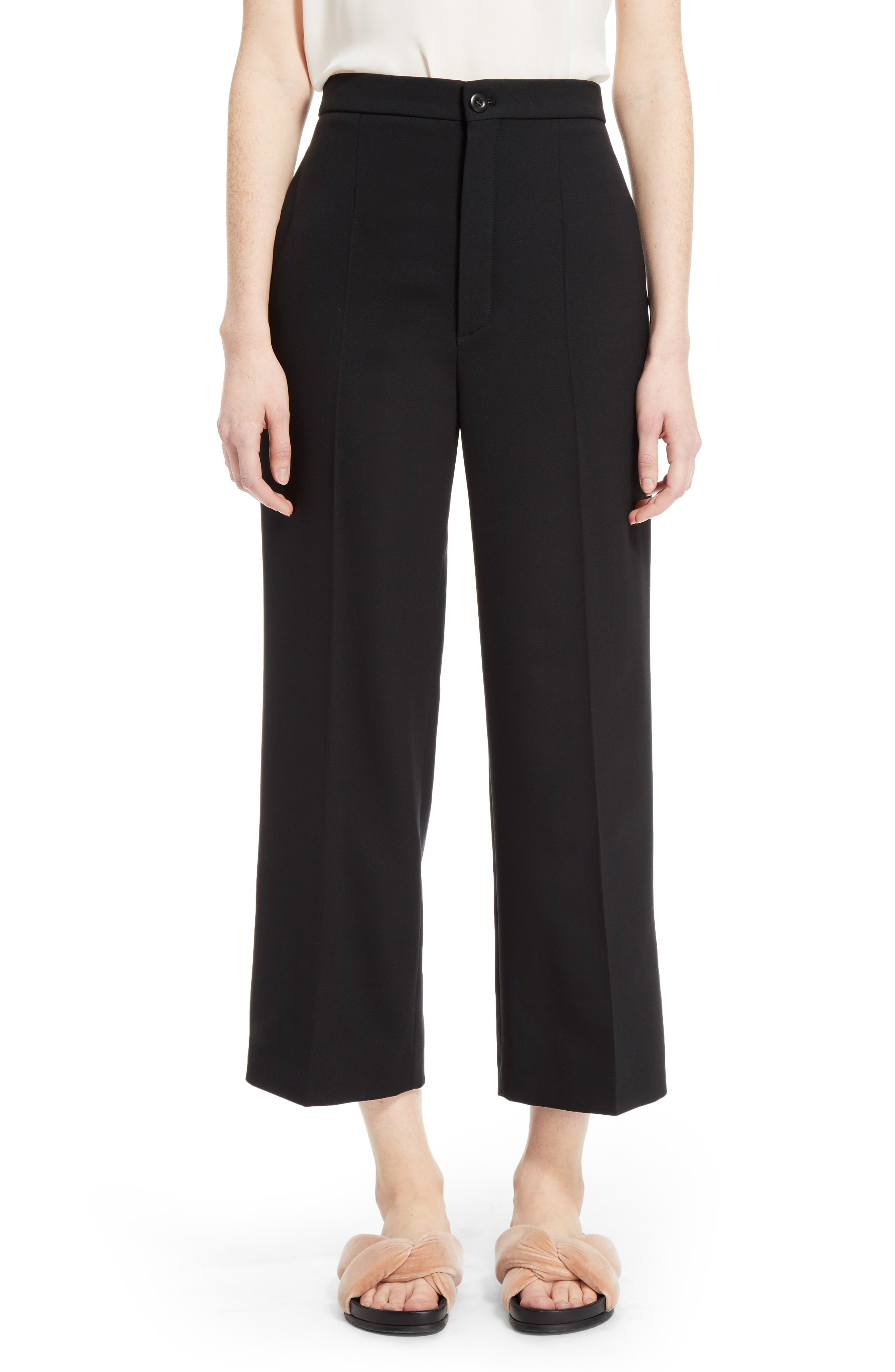 Chloé Stretch Wool Crop Pants