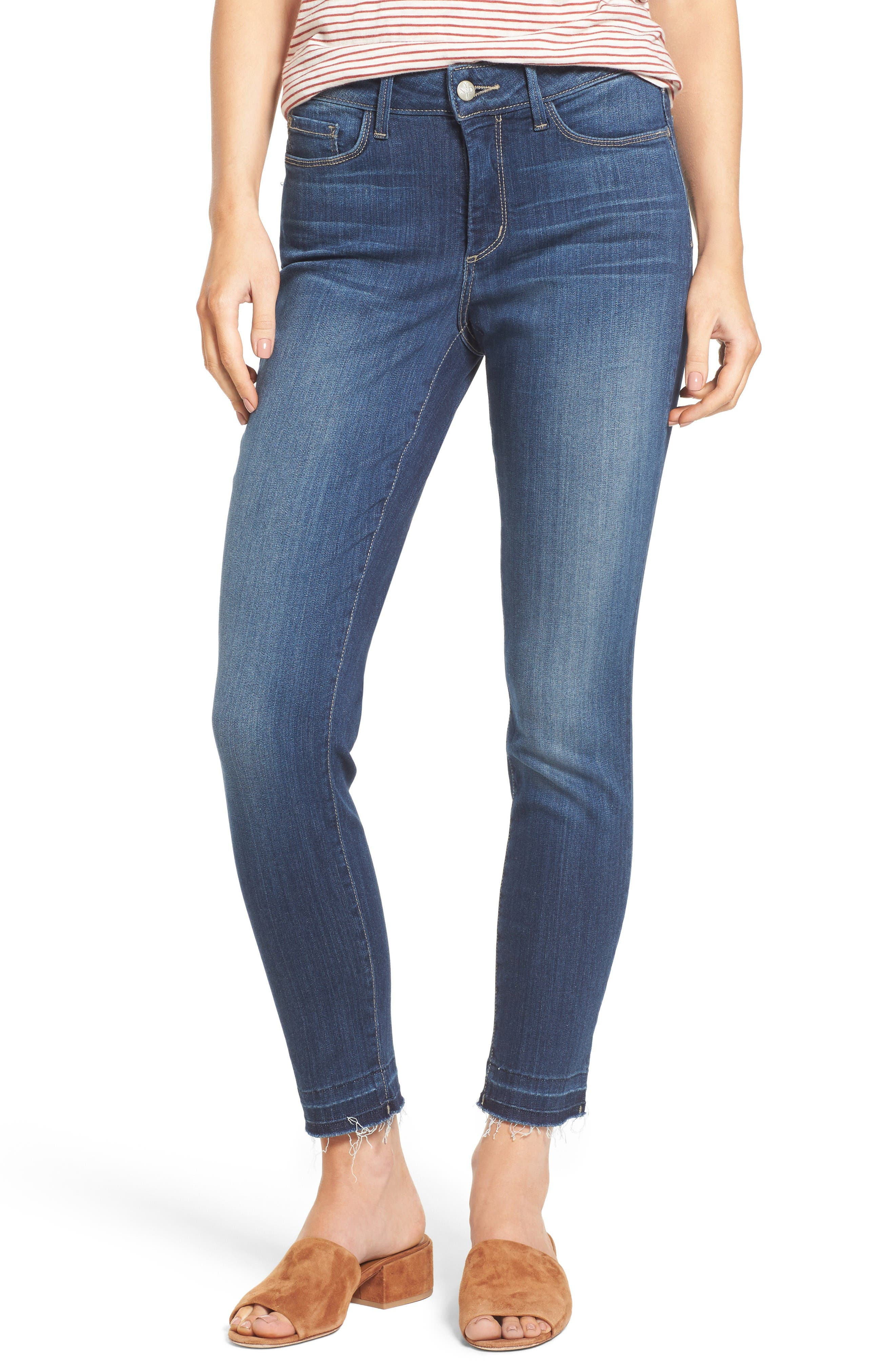 Ami Release Hem Stretch Skinny Jeans,                             Main thumbnail 1, color,                             Mabel