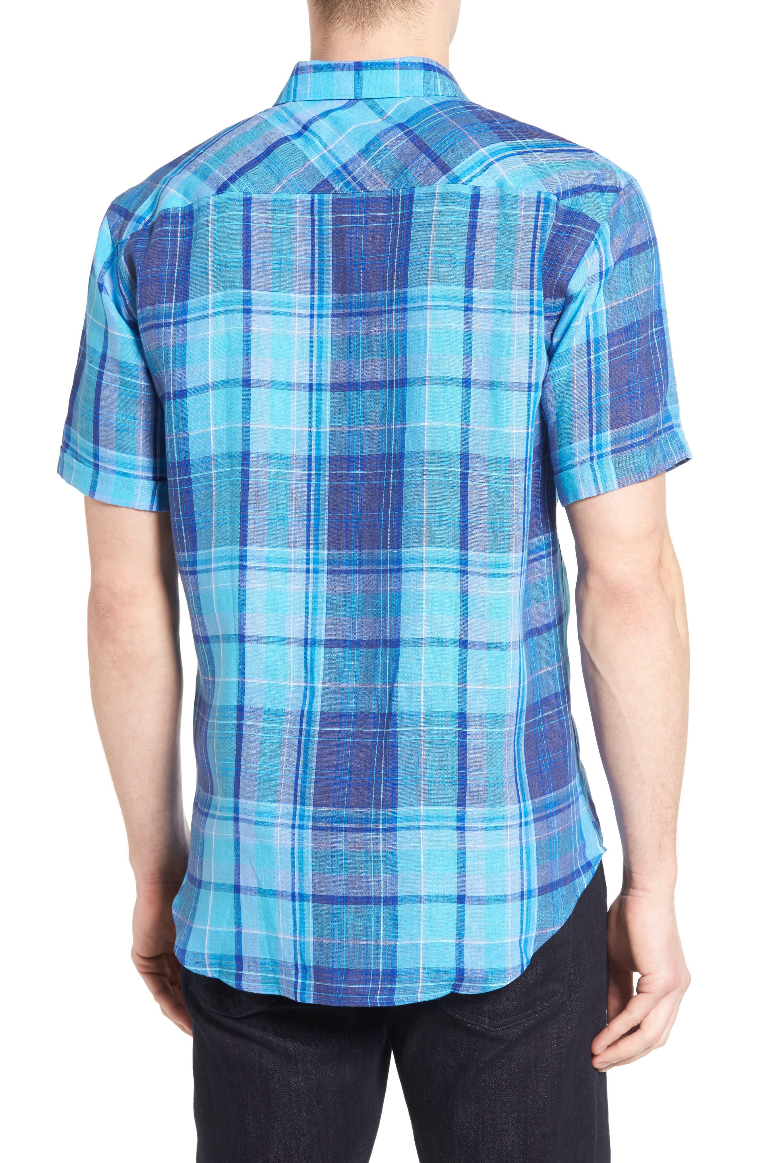 Alternate Image 2  - Bugatchi Shaped Fit Linen Sport Shirt