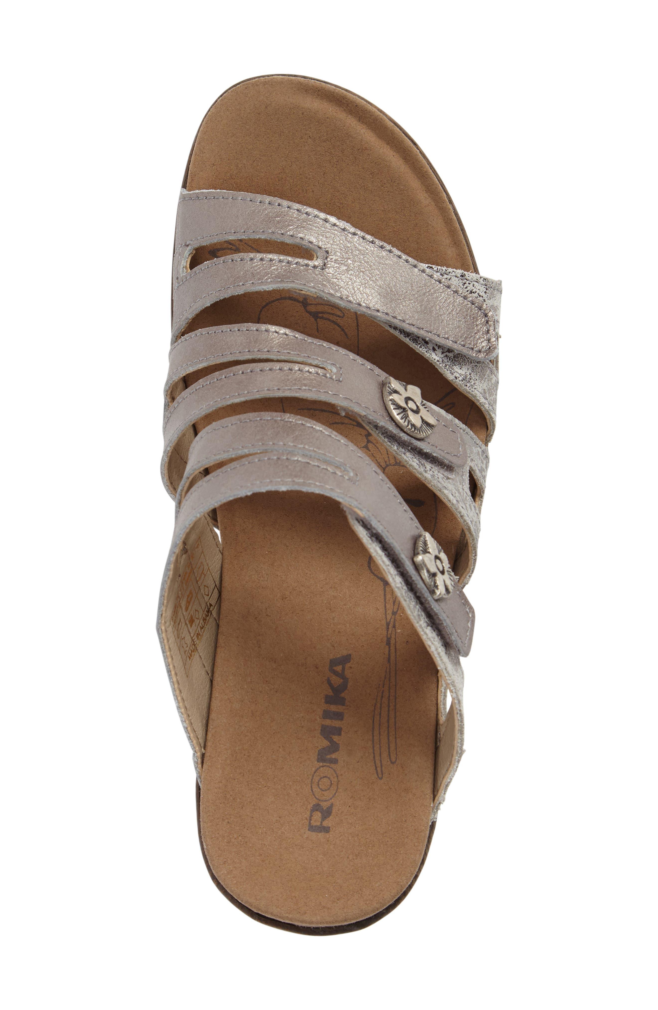 Nevis 04 Sandal,                             Alternate thumbnail 5, color,                             Platin Leather
