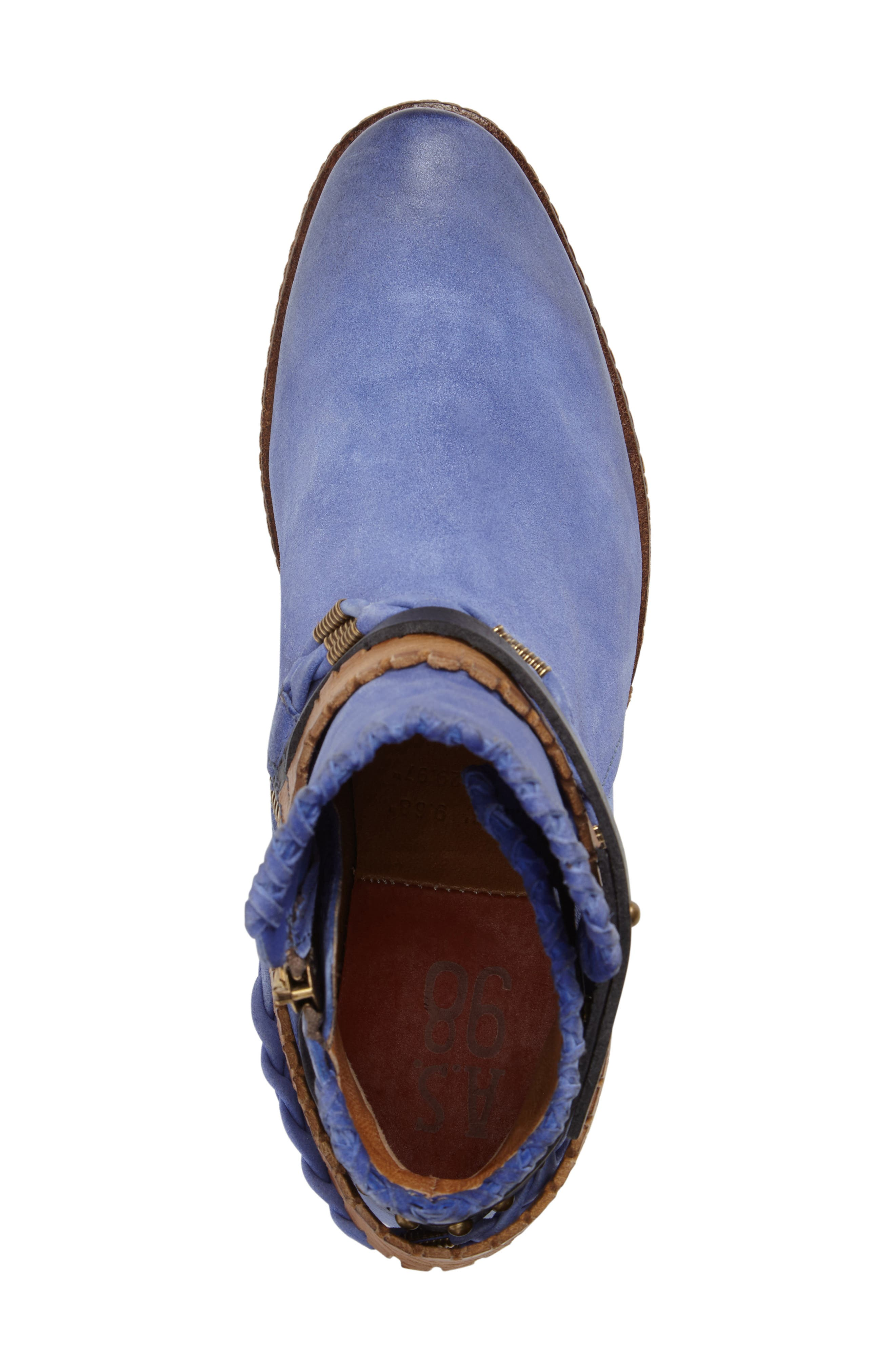 A.S. 98 Barney Bootie,                             Alternate thumbnail 5, color,                             Blue Leather