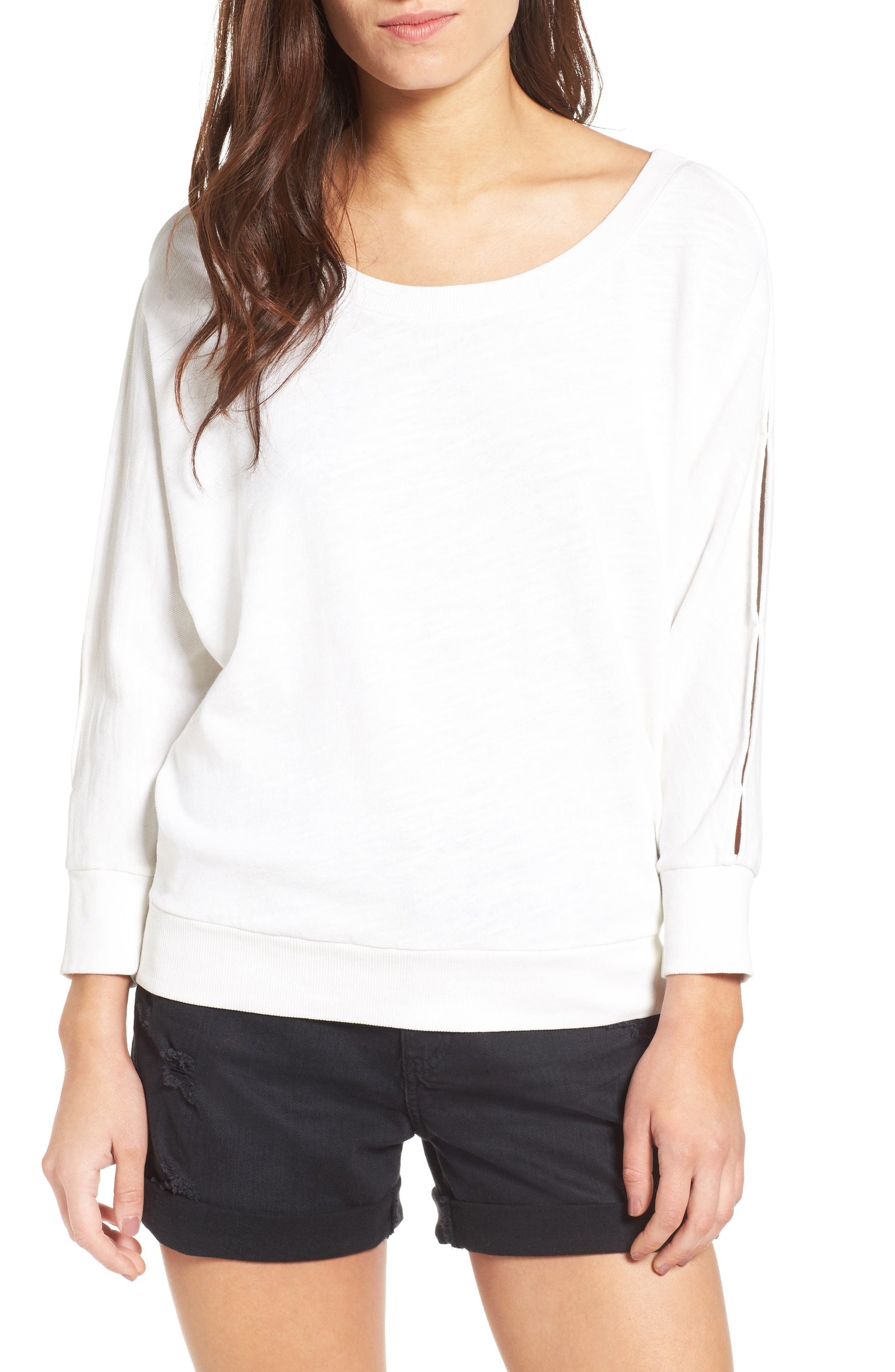 Splendid Split Sleeve Sweatshirt