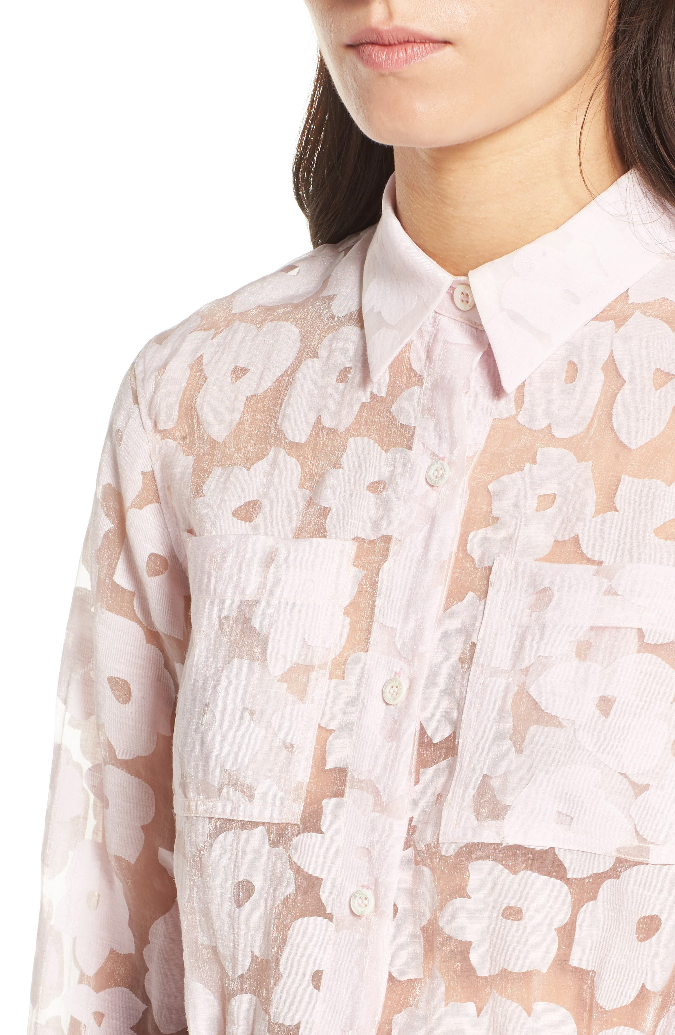 Alternate Image 4  - Paul & Joe Sister Crop Burnout Shirt