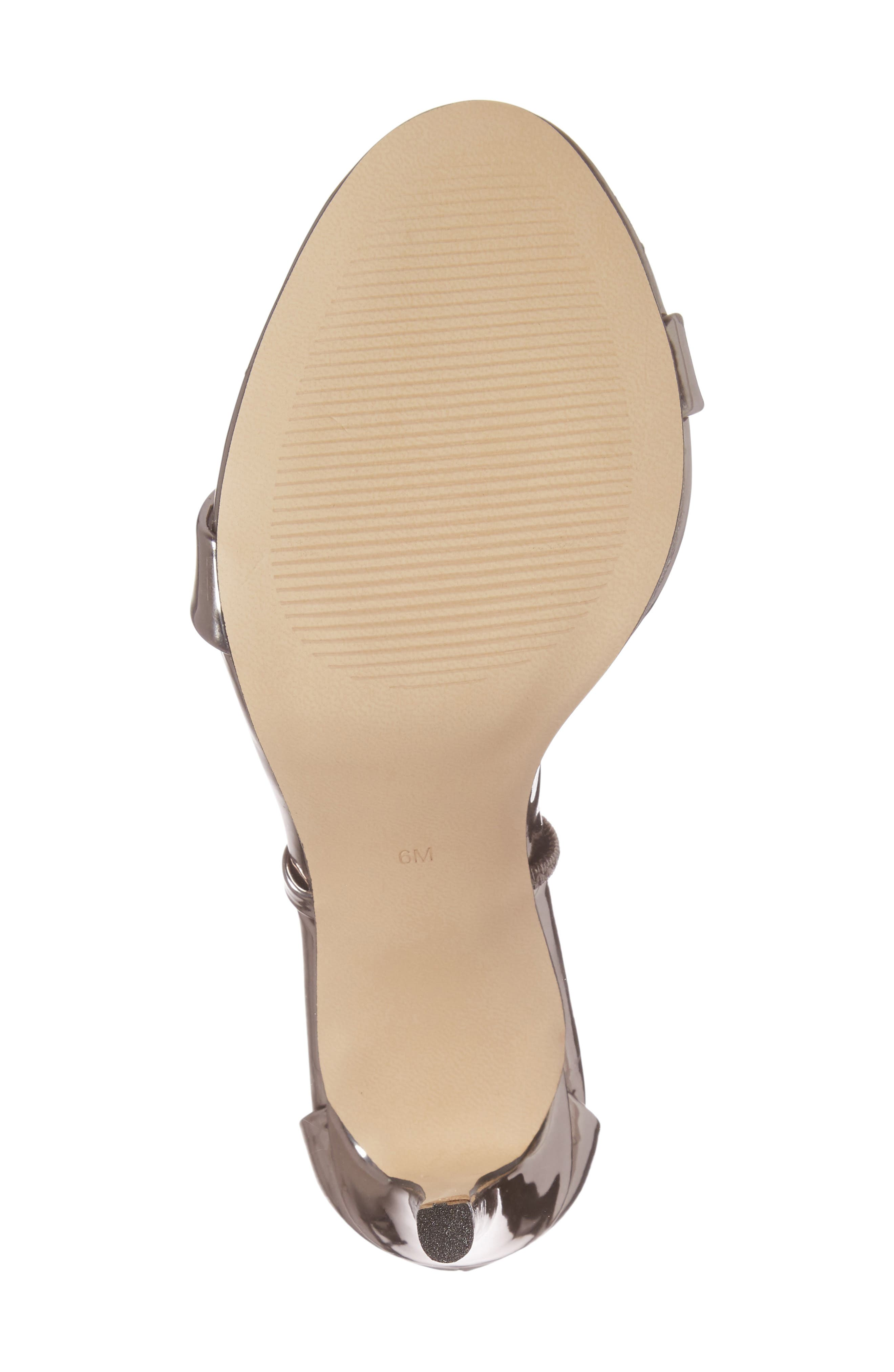 Sheena Strappy Sandal,                             Alternate thumbnail 6, color,                             Pewter Faux Leather