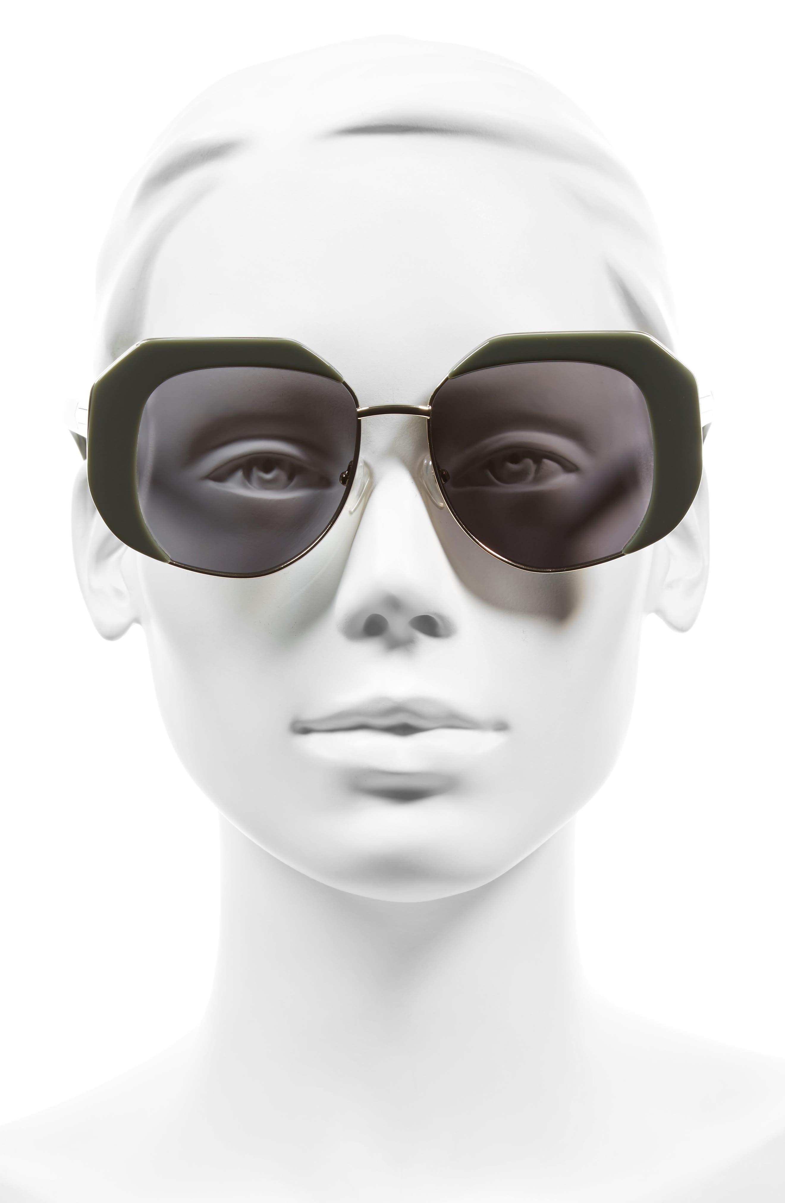 Domingo 52mm Sunglasses,                             Alternate thumbnail 2, color,                             Khaki/ Gold