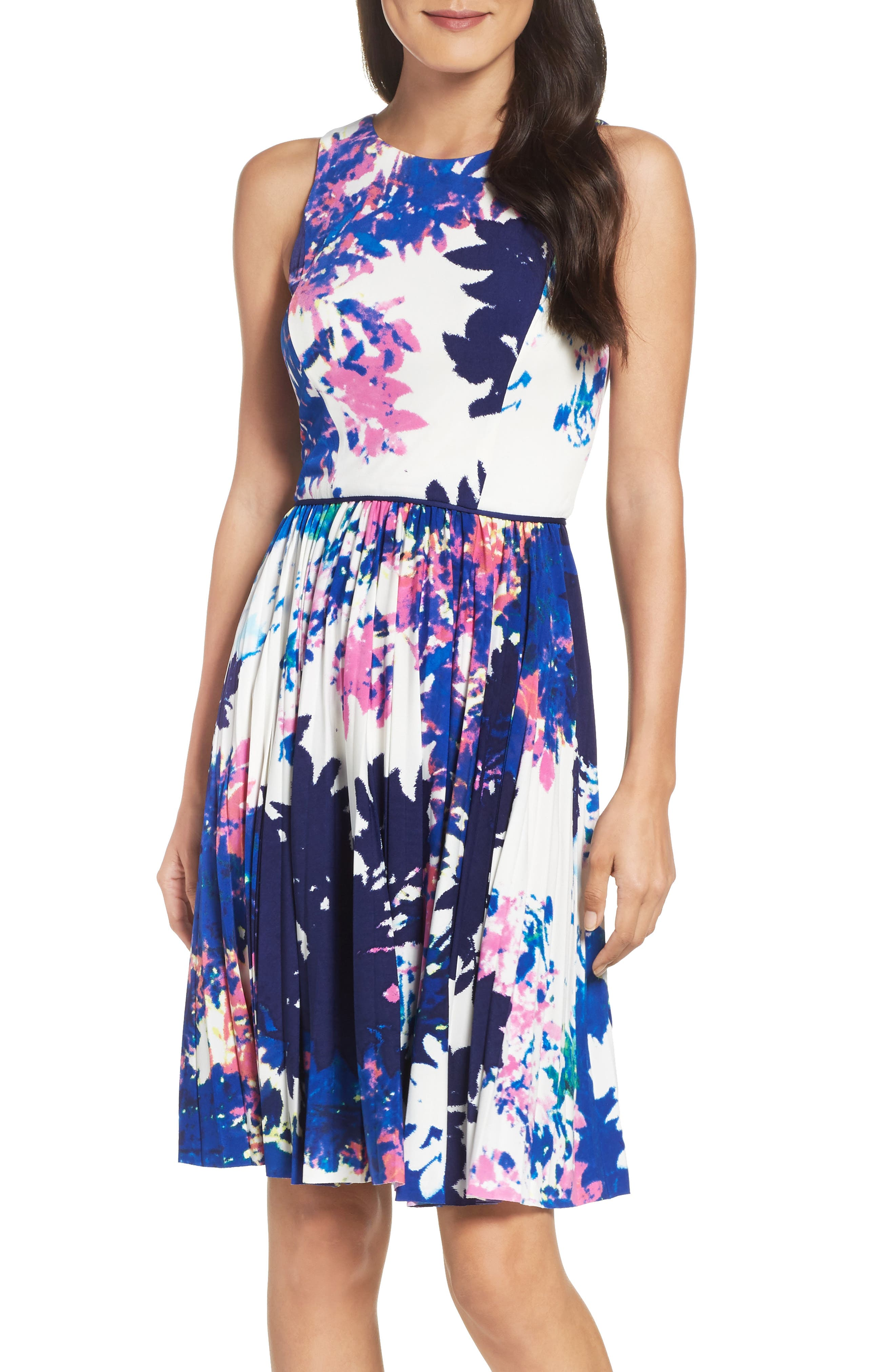 Alternate Image 1 Selected - Maggy London Stretch Fit & Flare Dress (Regular & Petite)