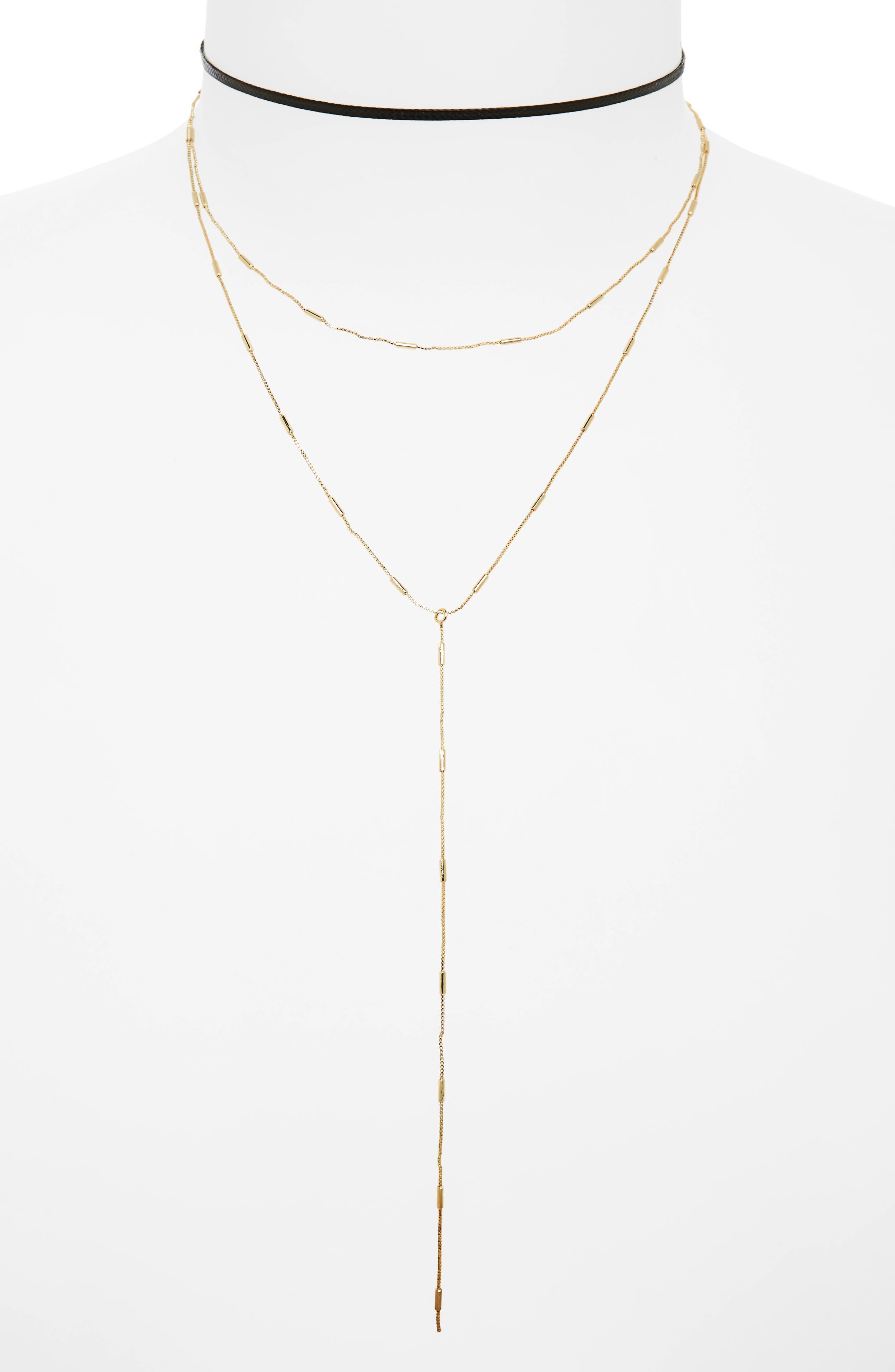 Alternate Image 1 Selected - BP. 2-Pack Choker & Y-Necklace