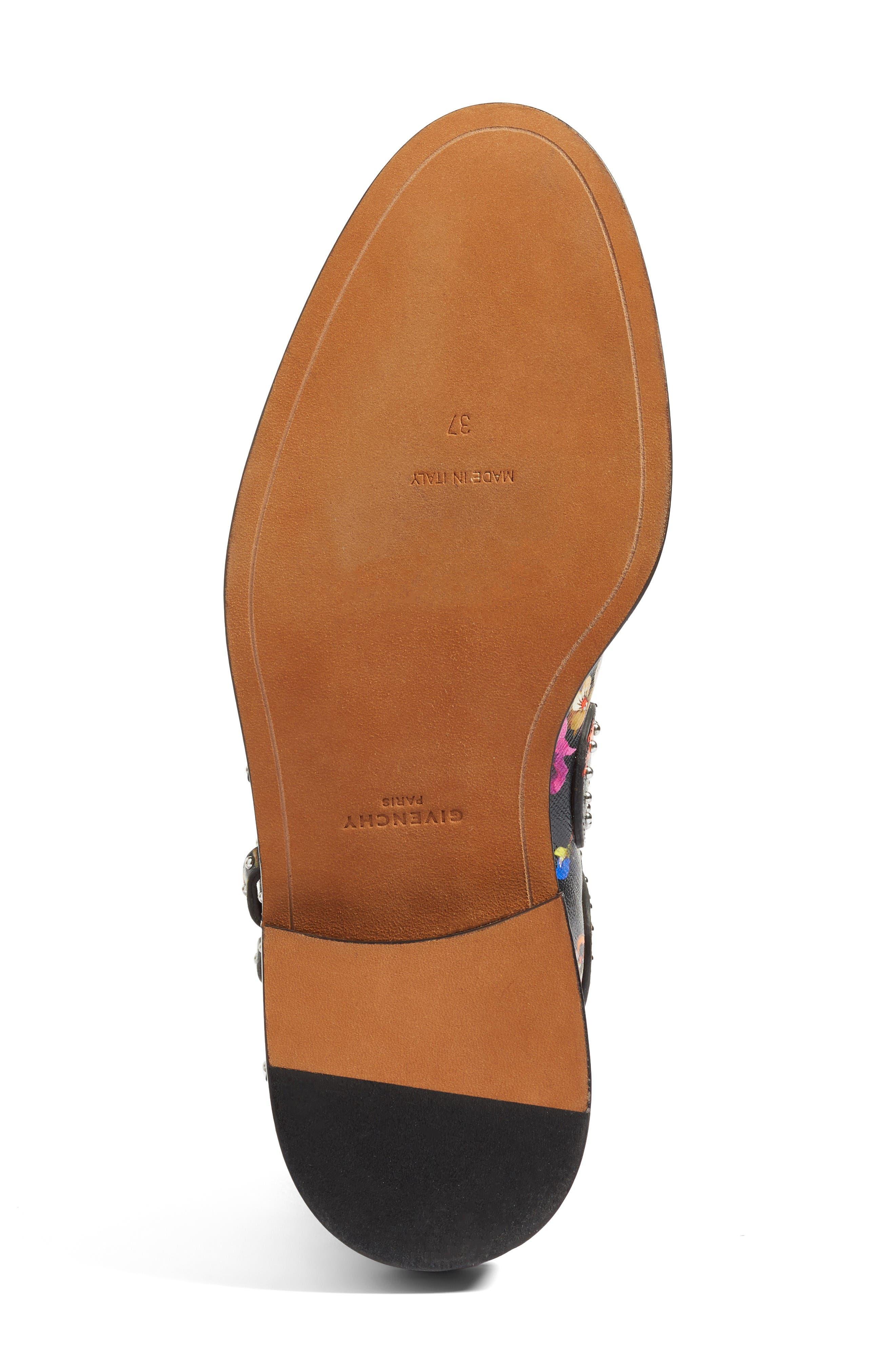 Prue Ankle Boot,                             Alternate thumbnail 8, color,                             Black Floral
