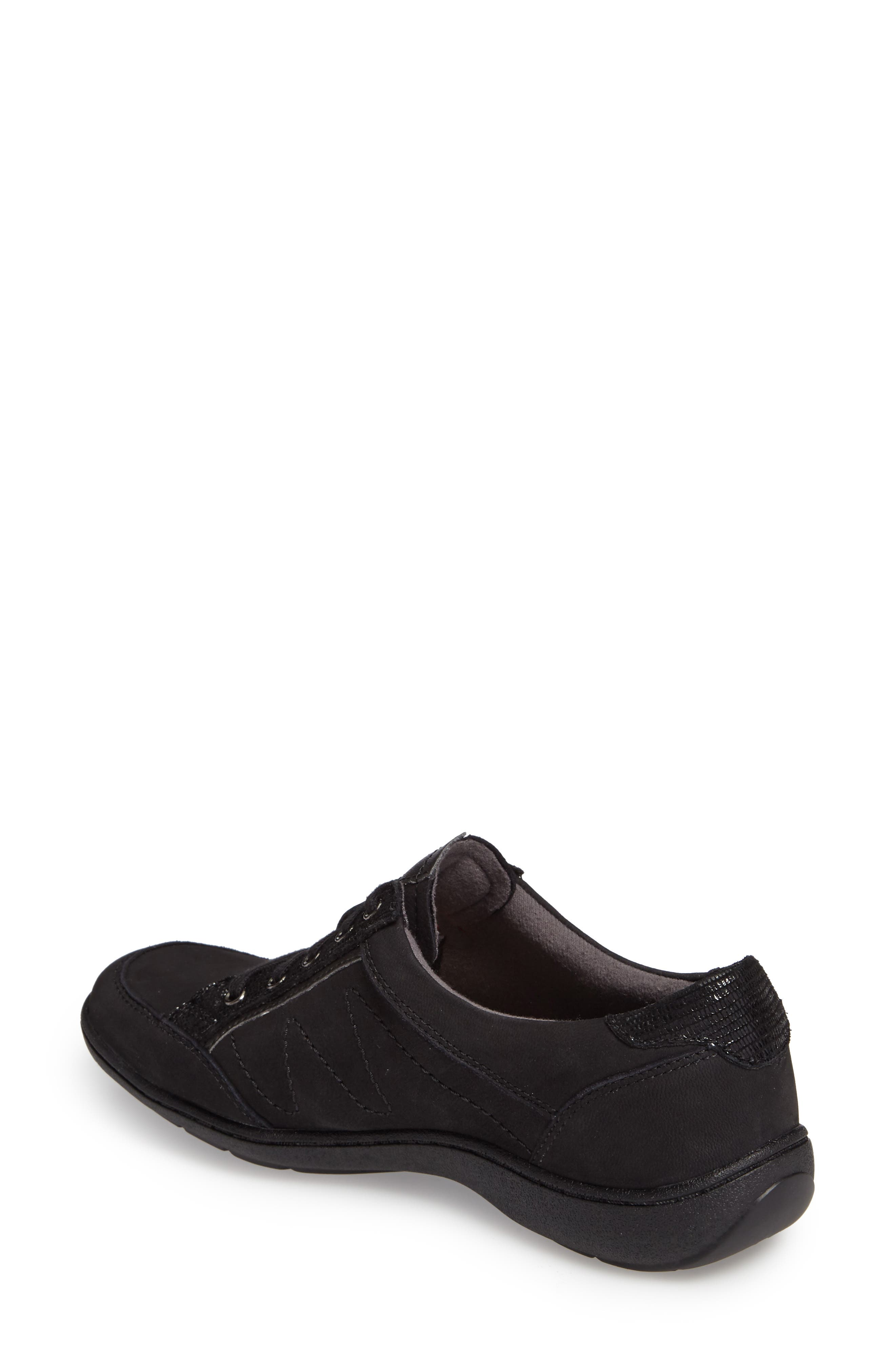 Bromly Sneaker,                             Alternate thumbnail 2, color,                             Black Fabric