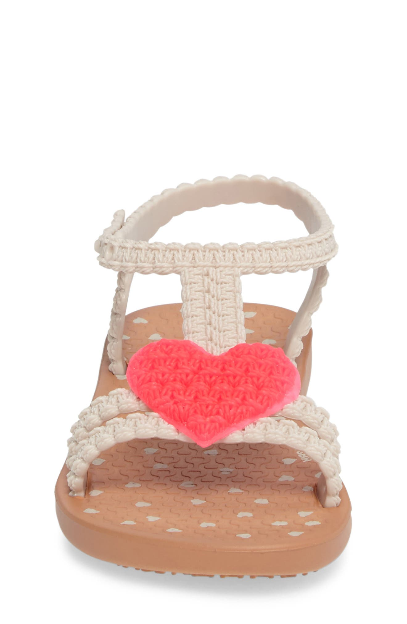 My First Ipanema Sandal,                             Alternate thumbnail 4, color,                             Brown/ Pink