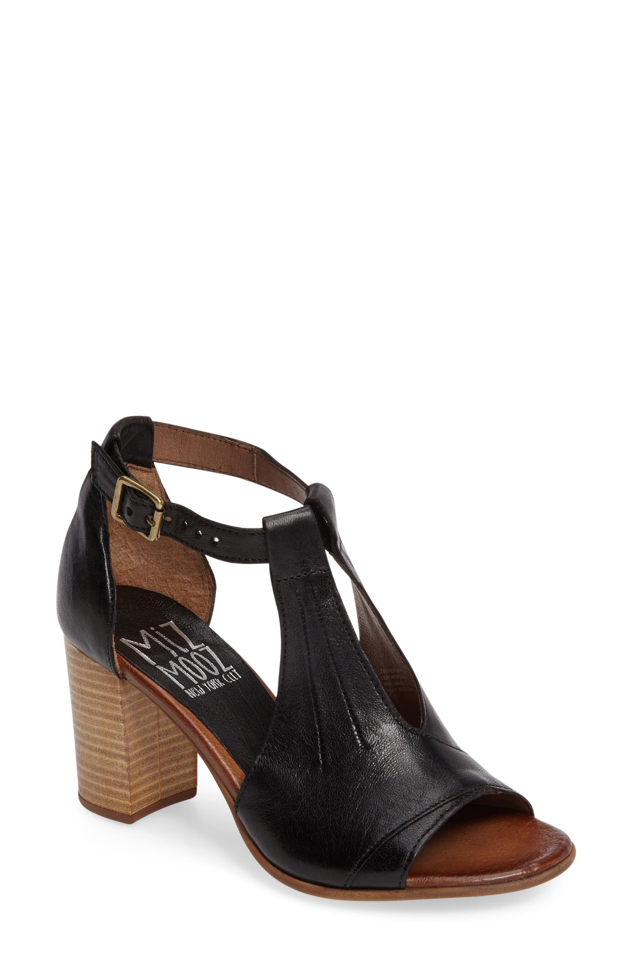 Miz Mooz Savannah T-Strap Strap Sandal (Women)