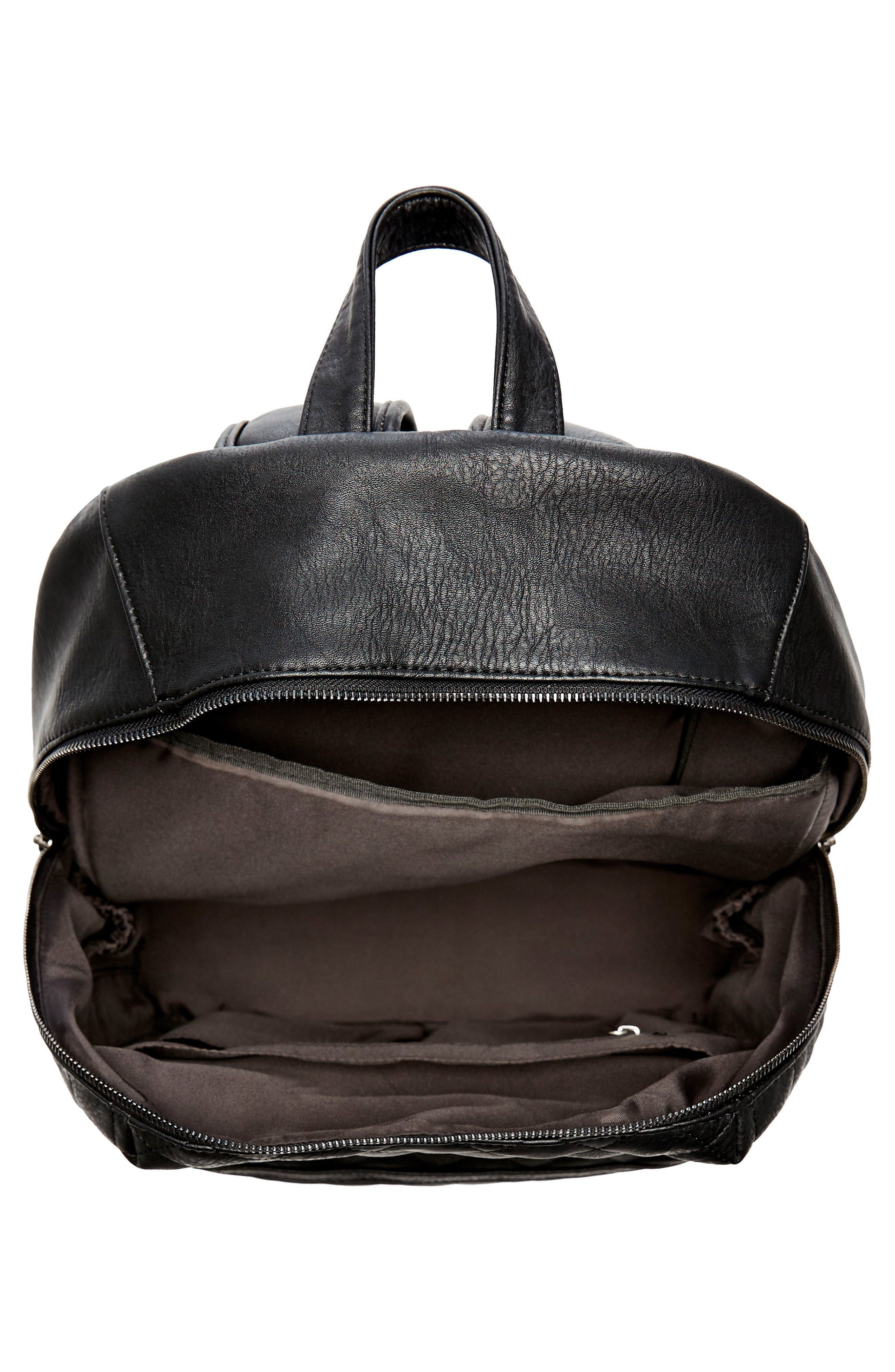 Alternate Image 3  - The Honest Company City Quilted Faux Leather Diaper Backpack