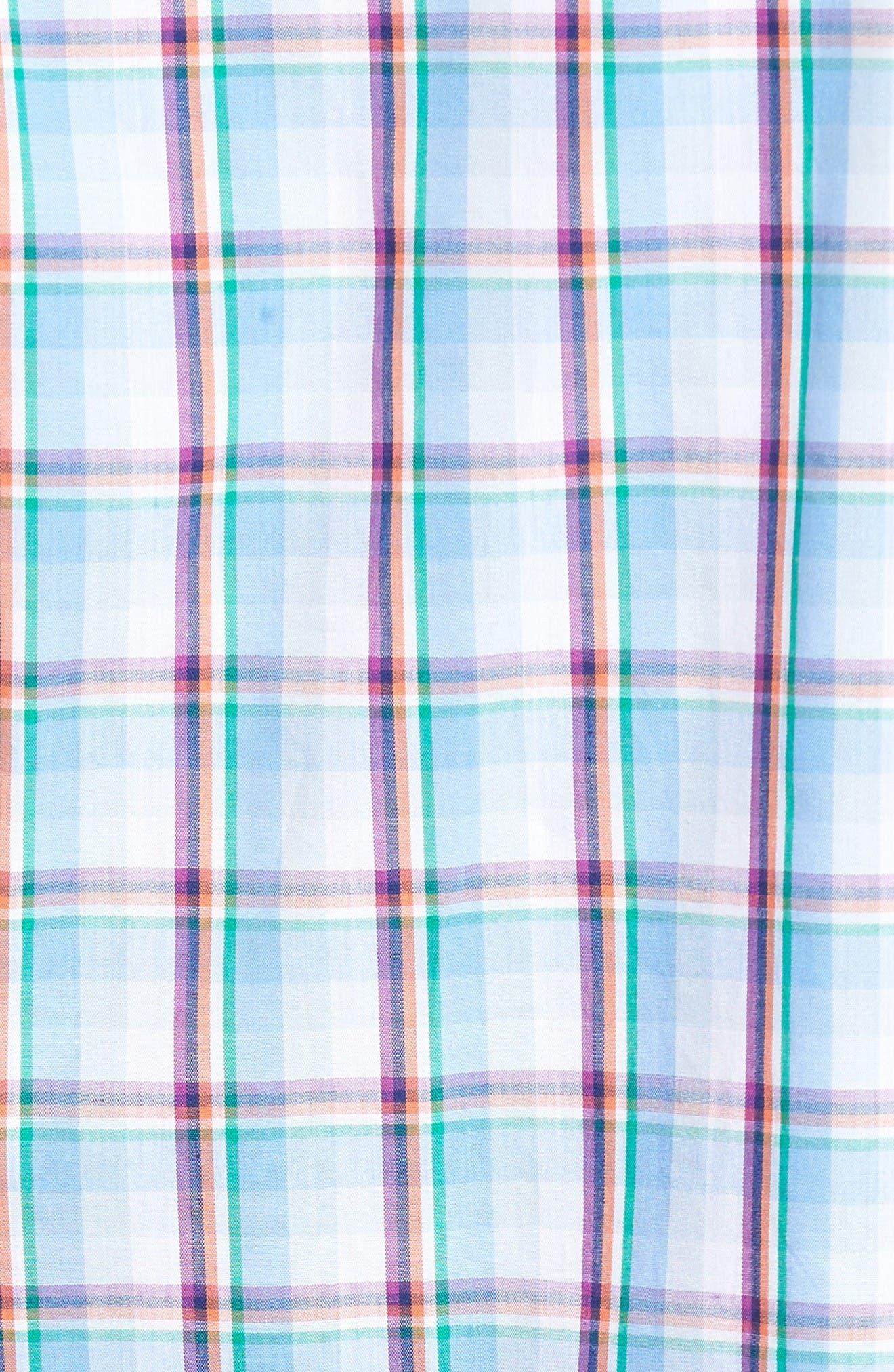 Alternate Image 5  - TailorByrd Pinyon Plaid Sport Shirt