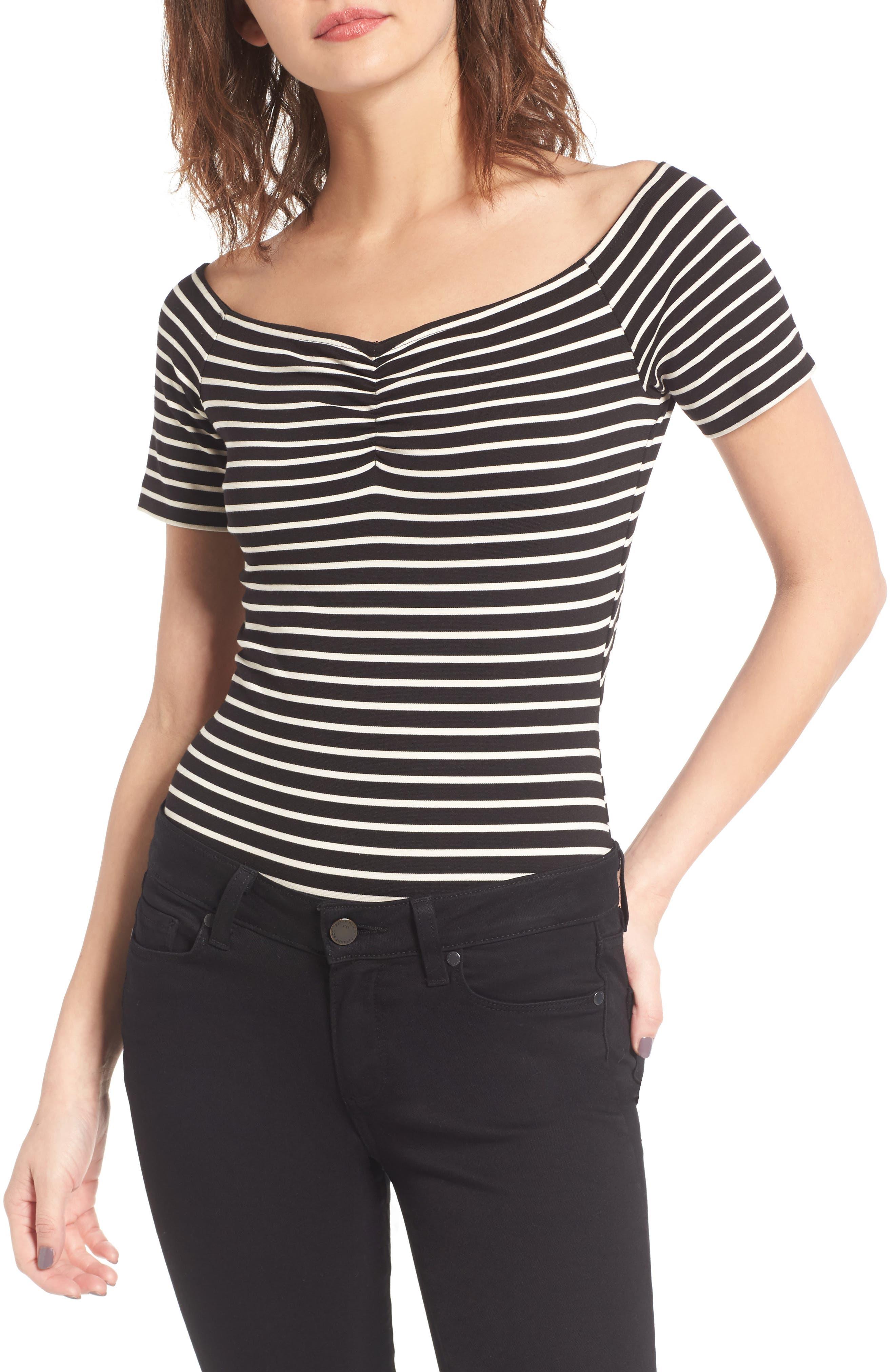 KENDALL + KYLIE Stripe Bodysuit