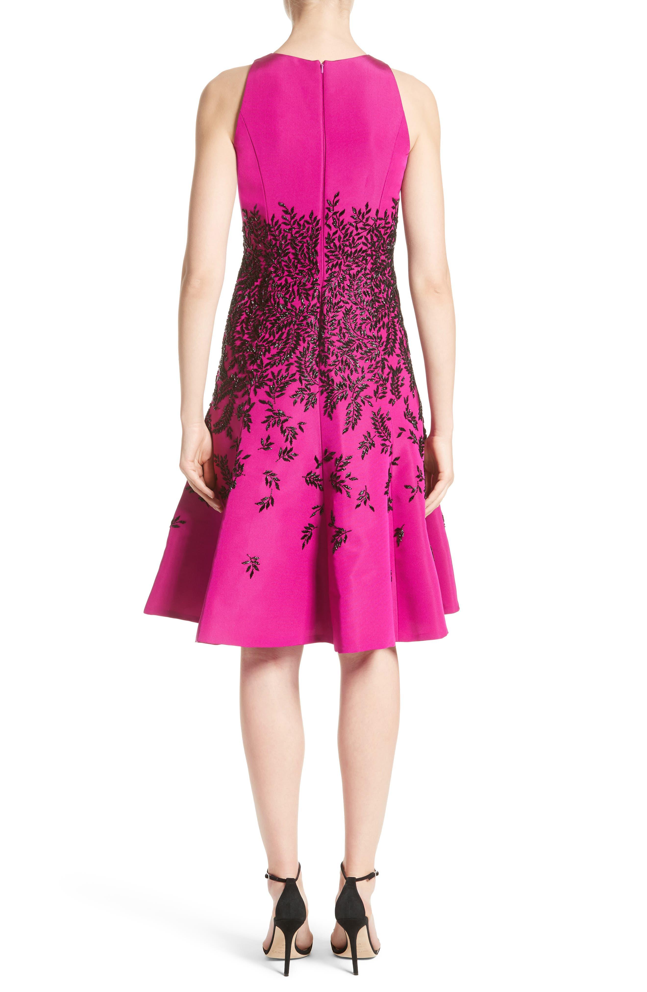 Alternate Image 2  - Carmen Marc Valvo Couture Beaded Fit & Flare Dress