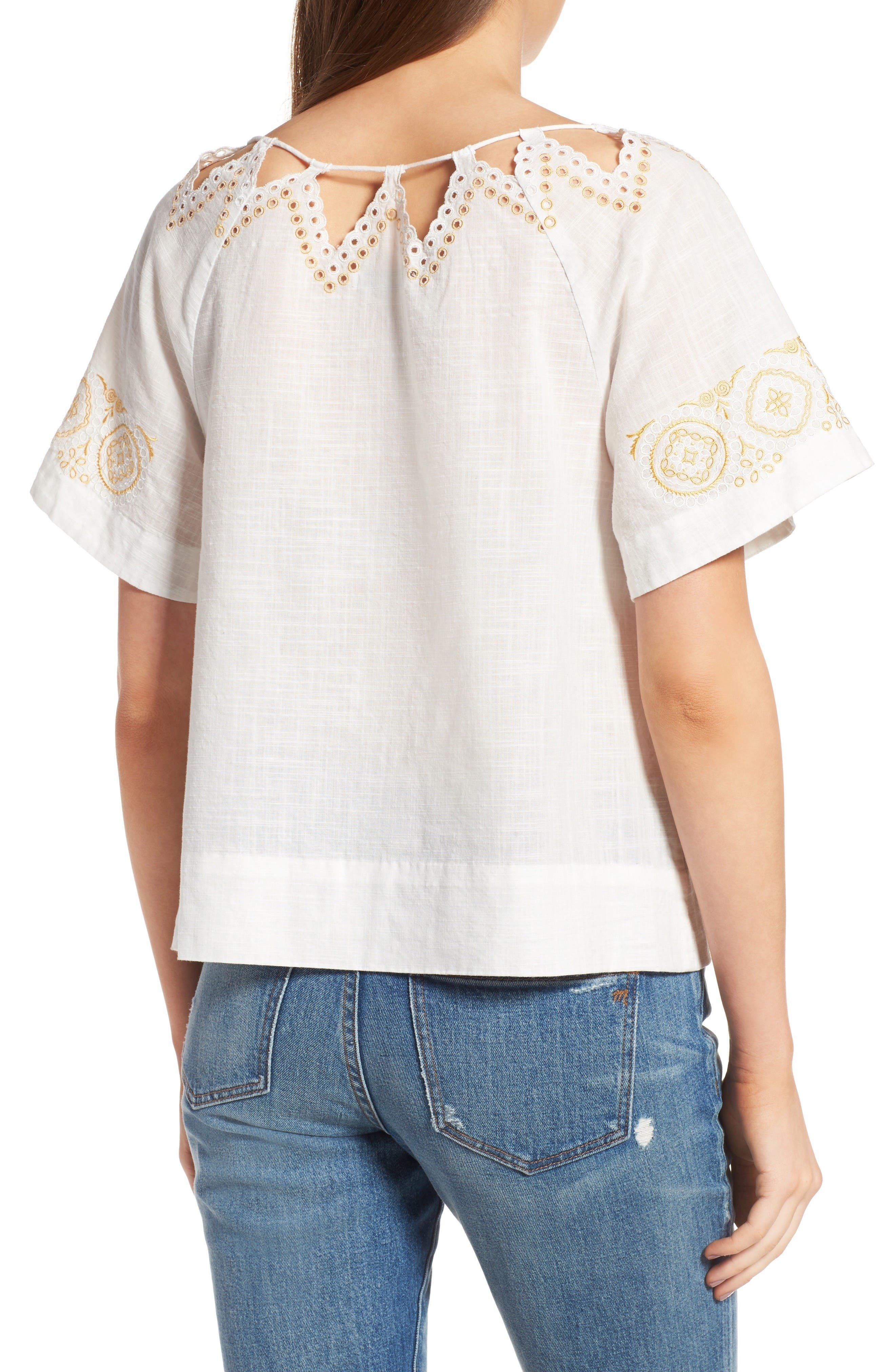 Alternate Image 3  - Madewell Eyelet Peekaboo Top