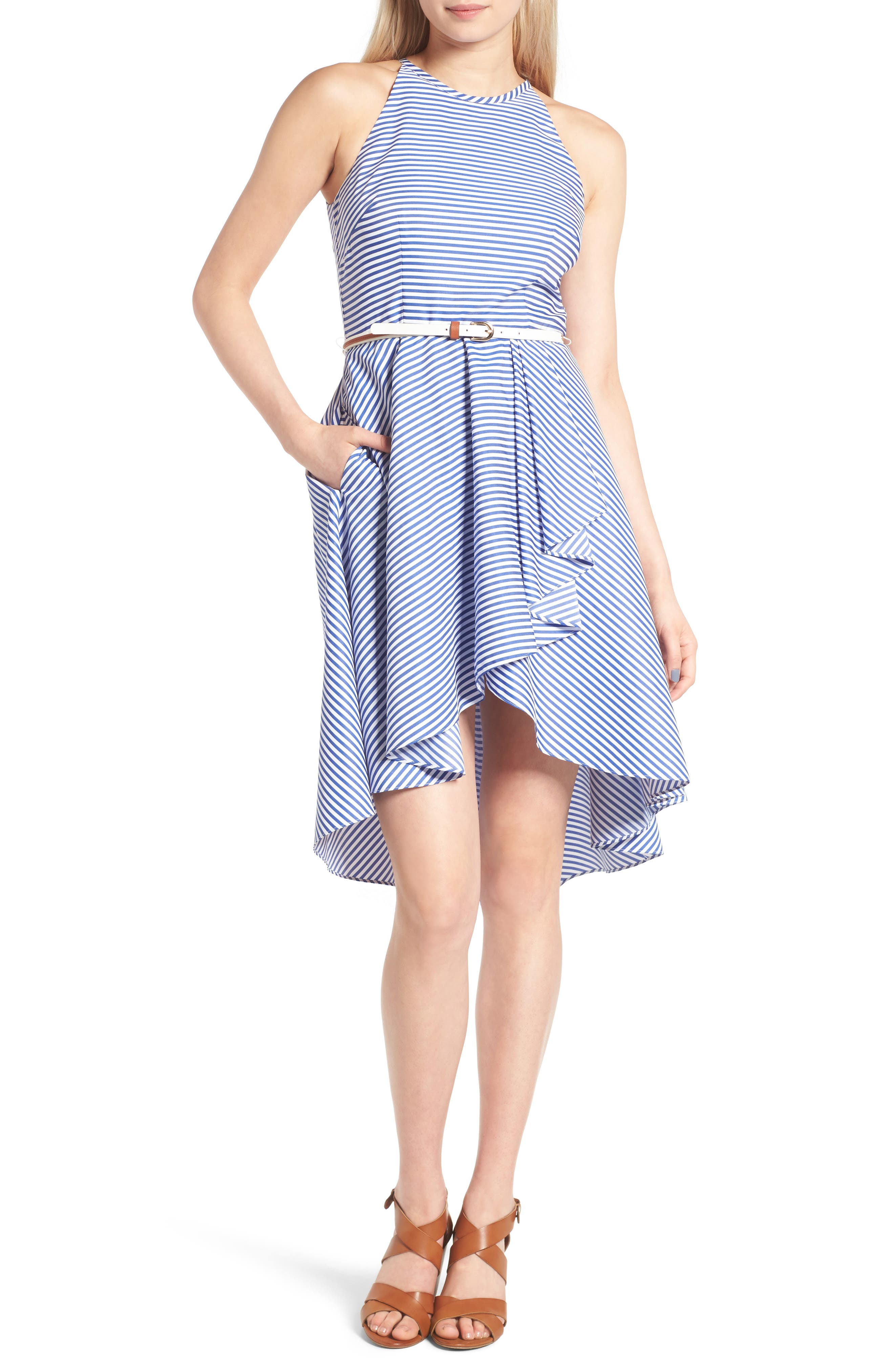 Eliza J High/Low Dress (Regular & Petite)