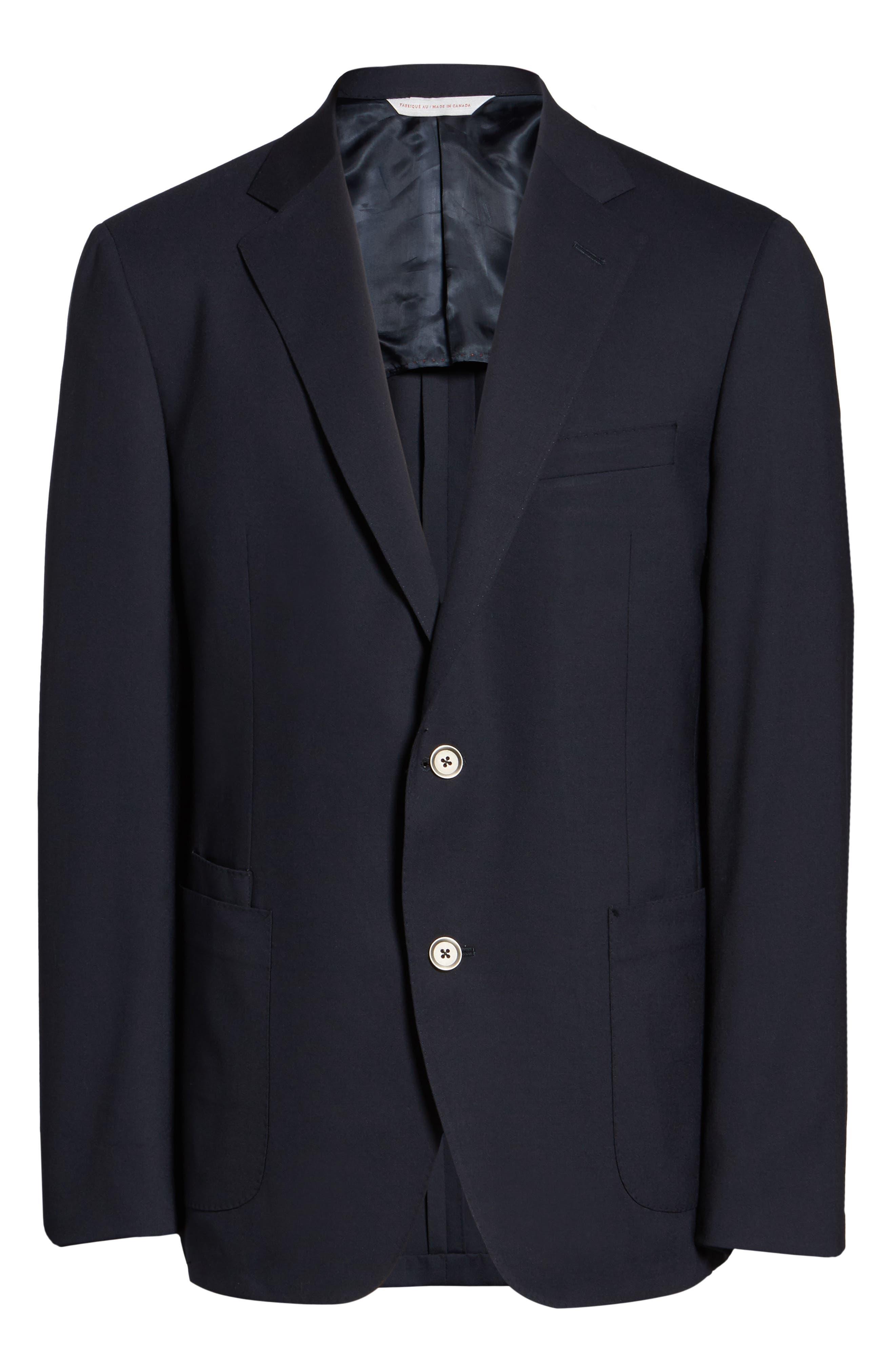 Alternate Image 5  - Samuelsohn Classic Fit Stretch Wool Travel Blazer