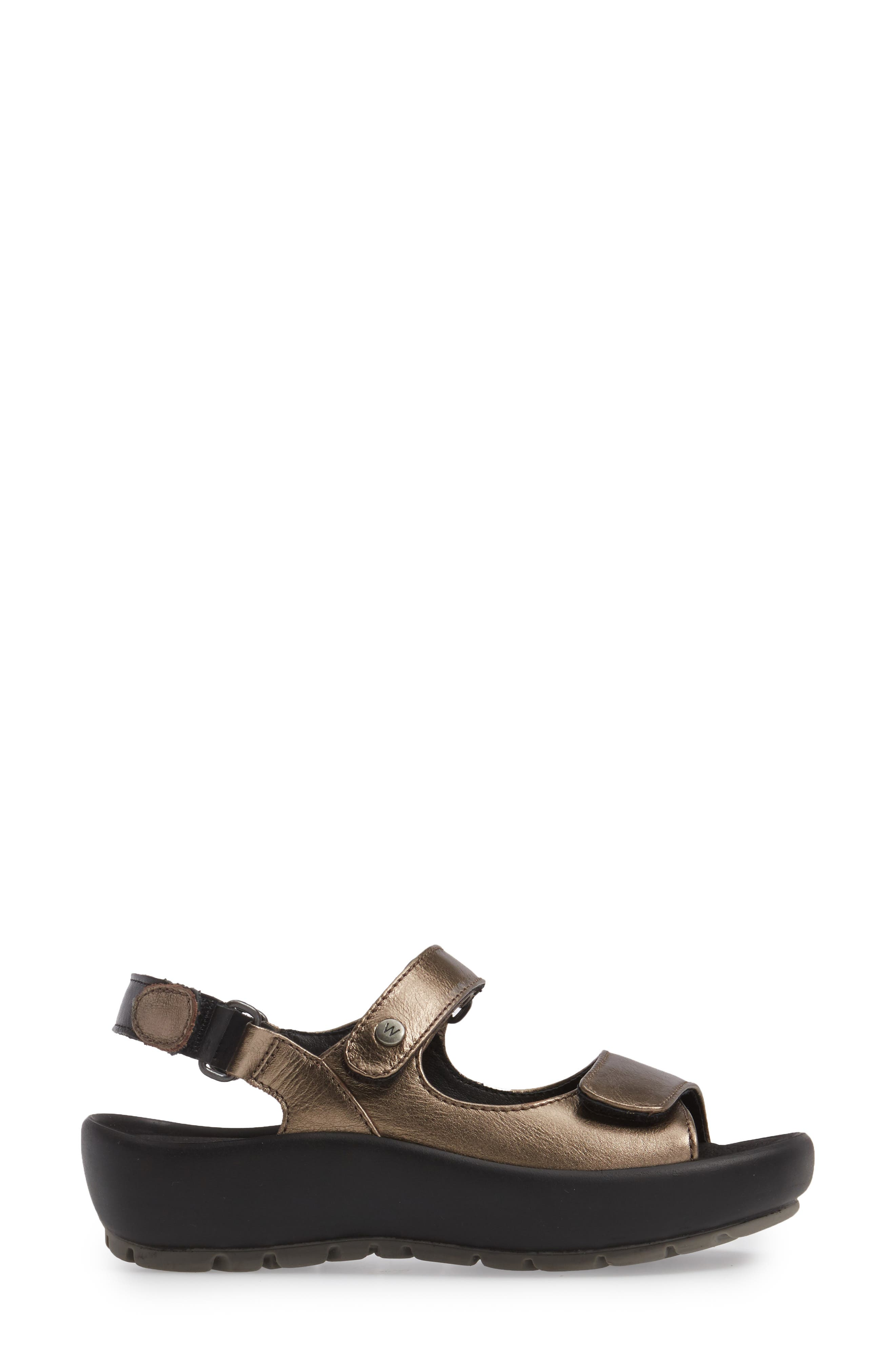 Rio Sandal,                             Alternate thumbnail 3, color,                             Bronze Metallic Leather