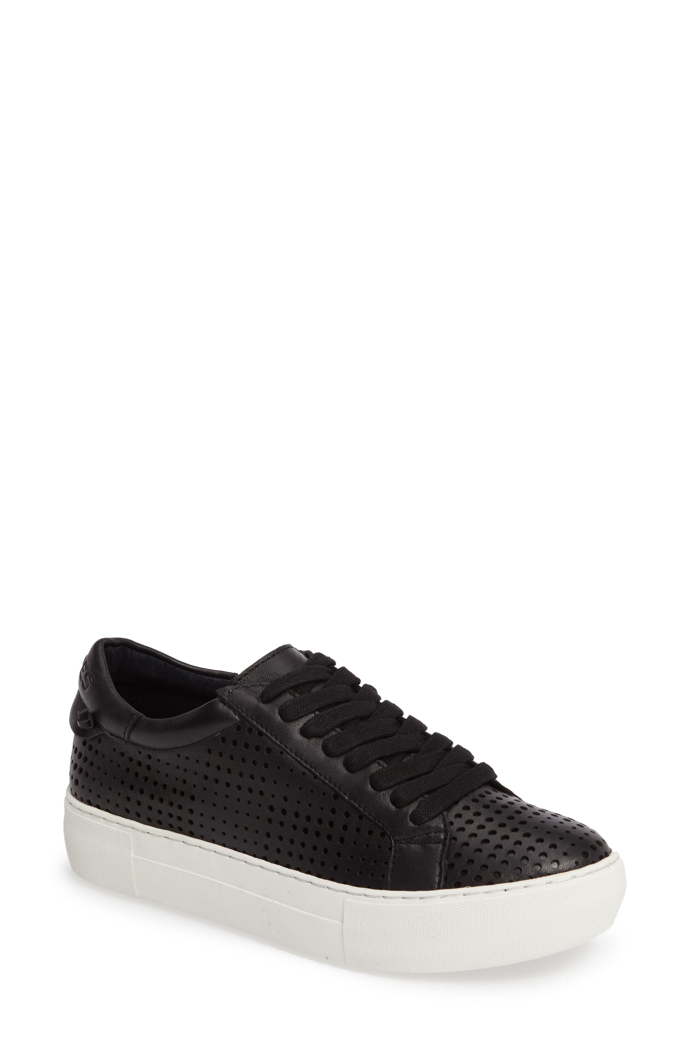 Audrina Platform Sneaker,                         Main,                         color, Black Leather