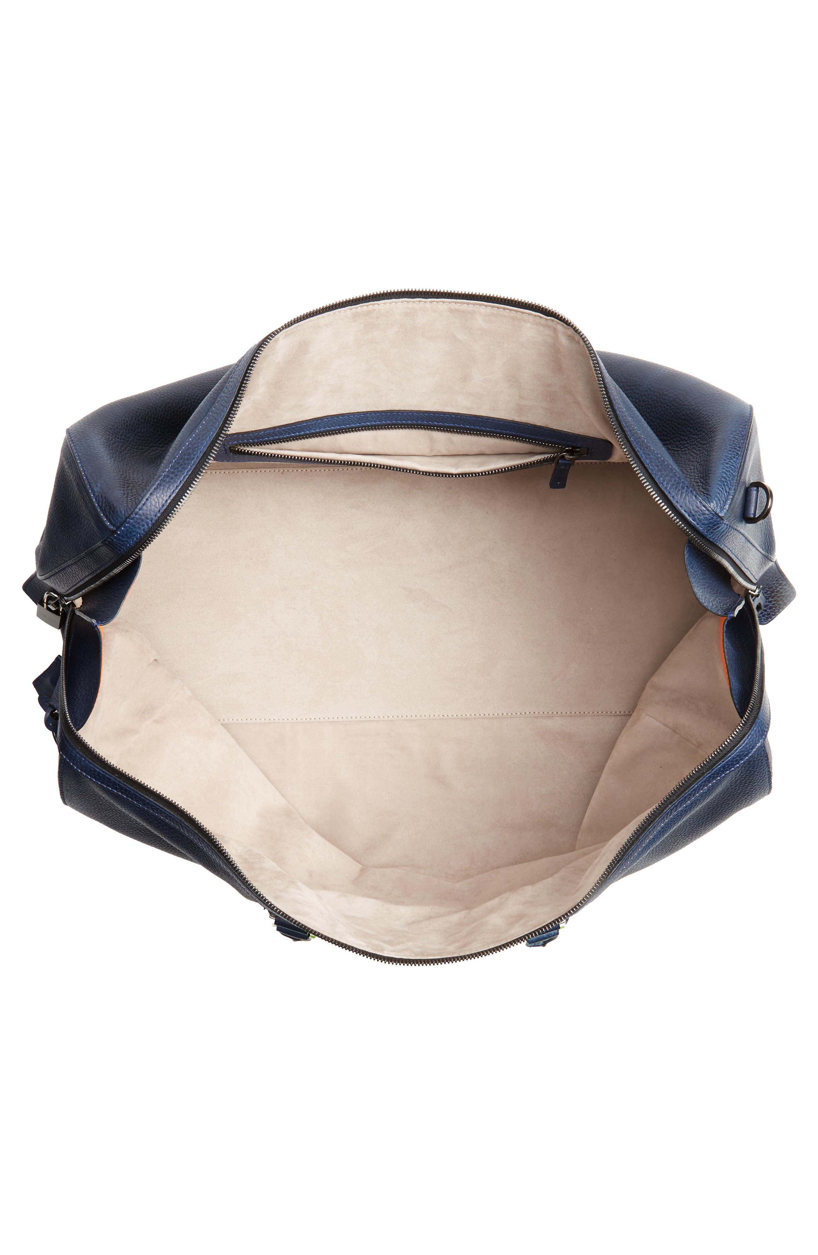 Alternate Image 4  - Magnanni Traveler Leather Duffel Bag