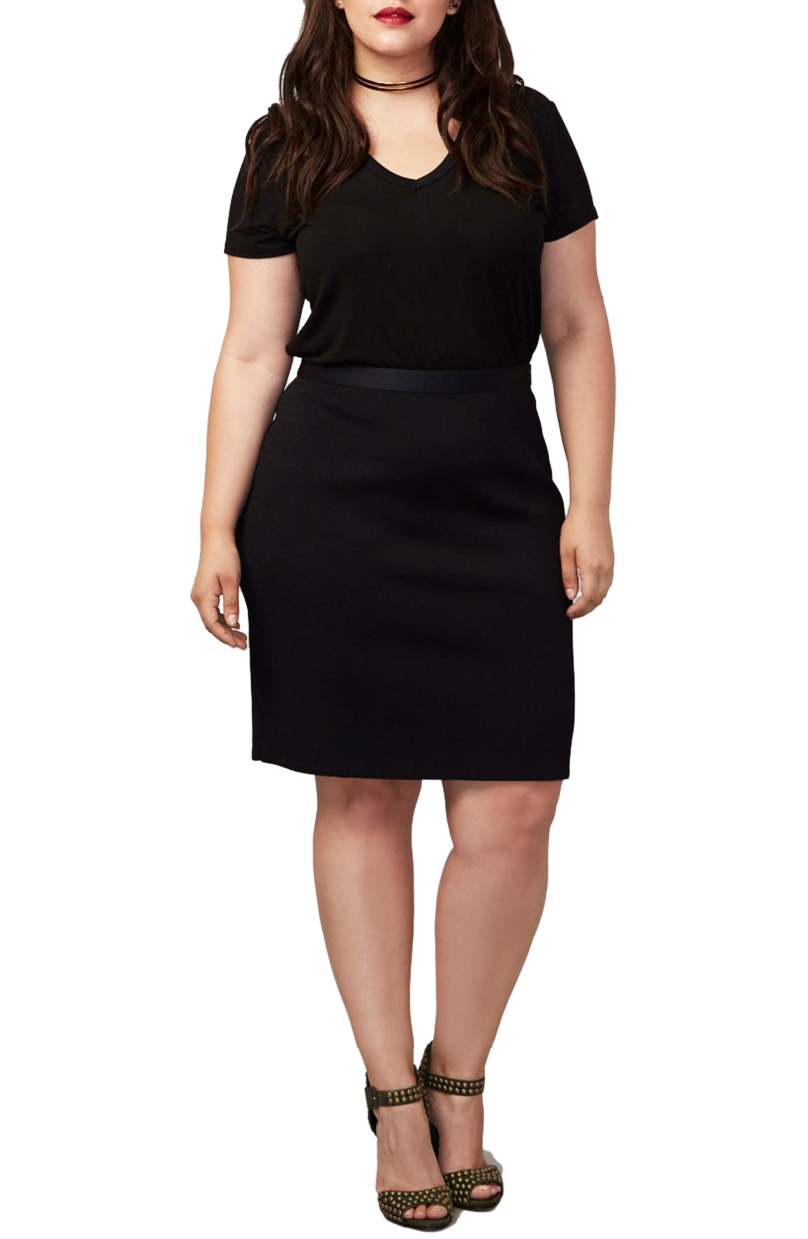 Alternate Image 1 Selected - RACHEL Rachel Roy Parker Skirt (Plus Size)