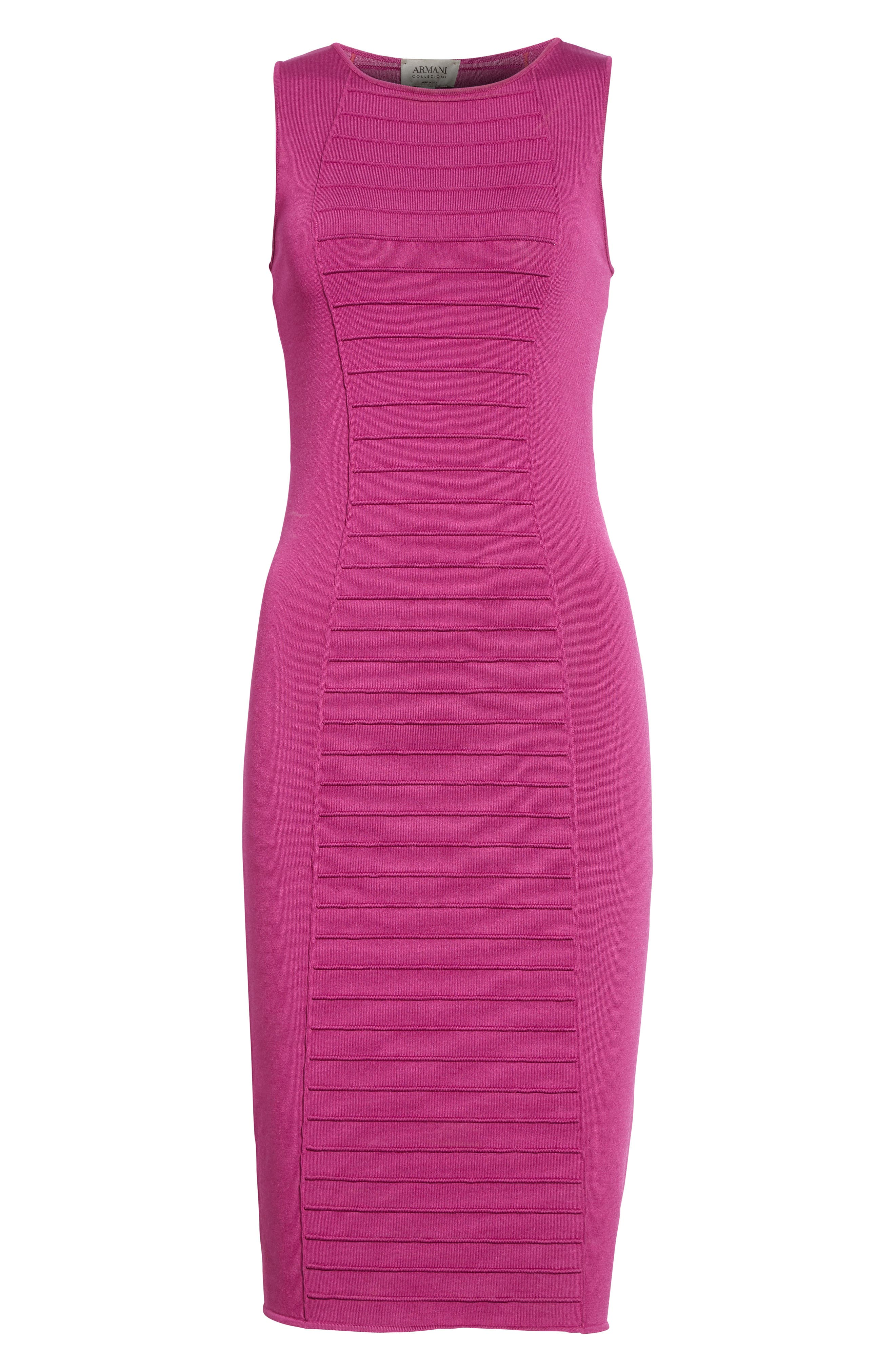 Micro Pipe Knit Dress,                             Alternate thumbnail 4, color,                             Orchid