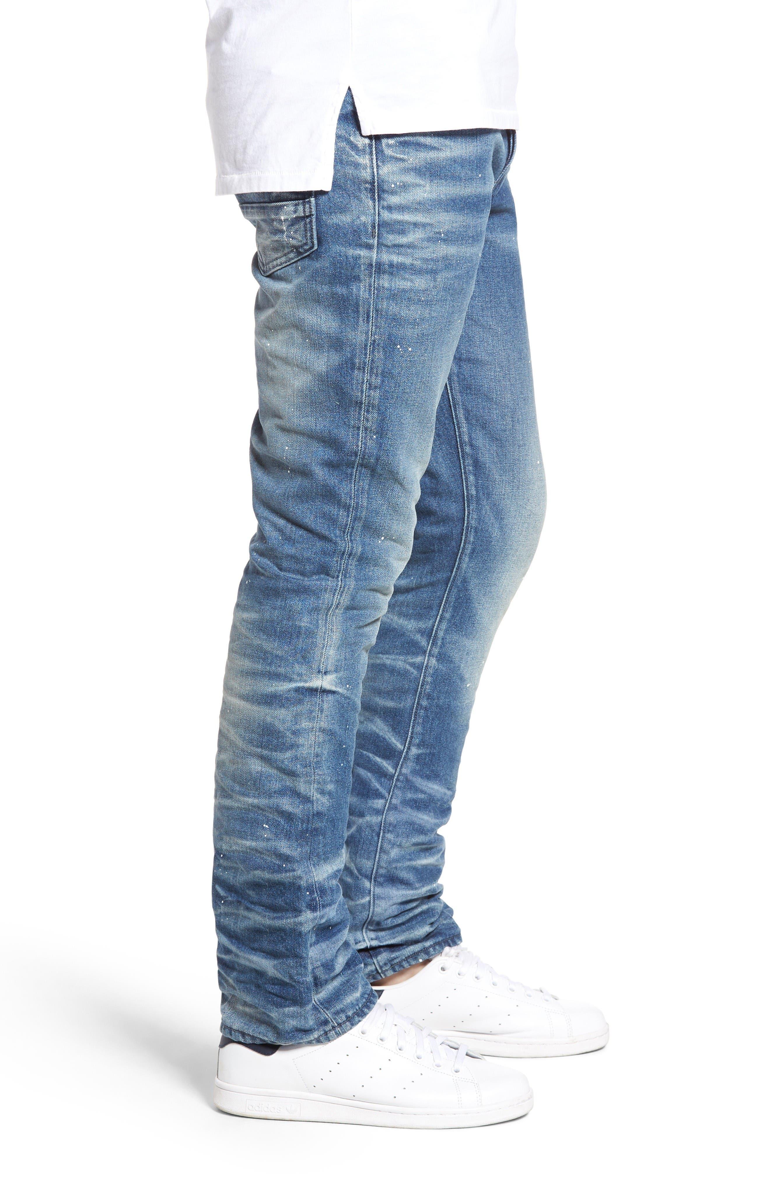 Demon Slim Straight Leg Jeans,                             Alternate thumbnail 3, color,                             Mediam
