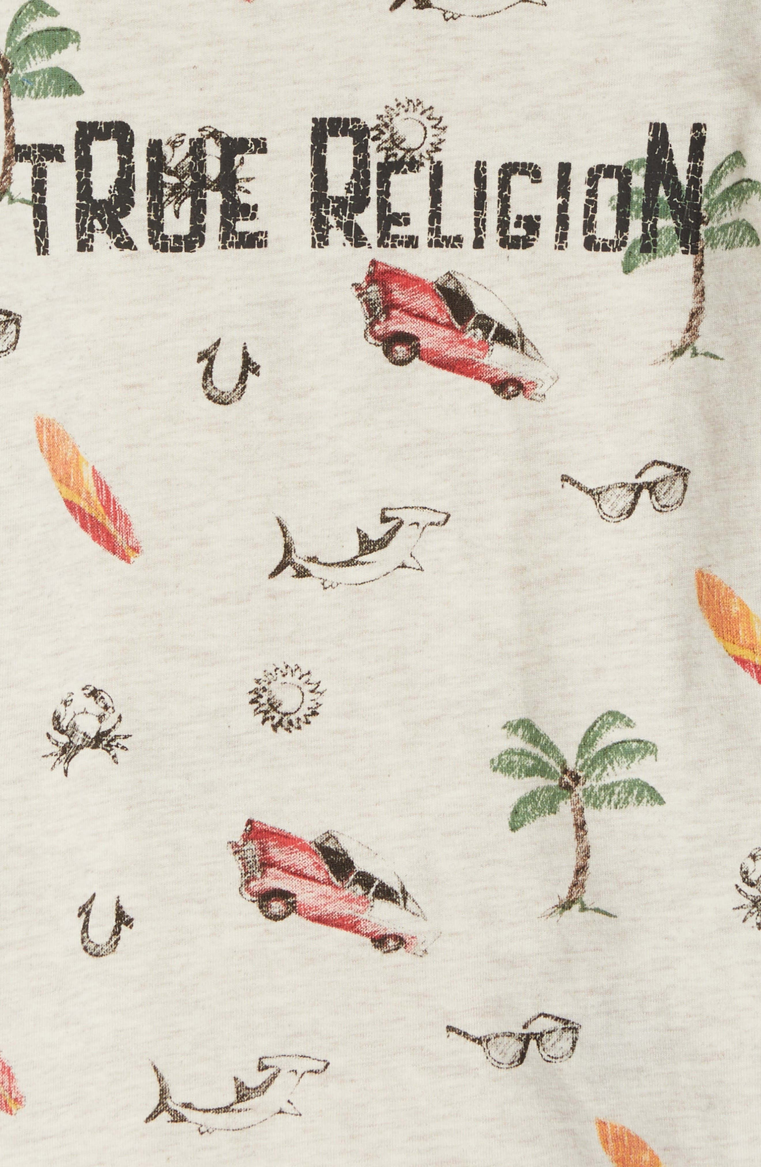 True Religion Retro Doodle T-Shirt,                             Alternate thumbnail 2, color,                             Oatmeal Heather