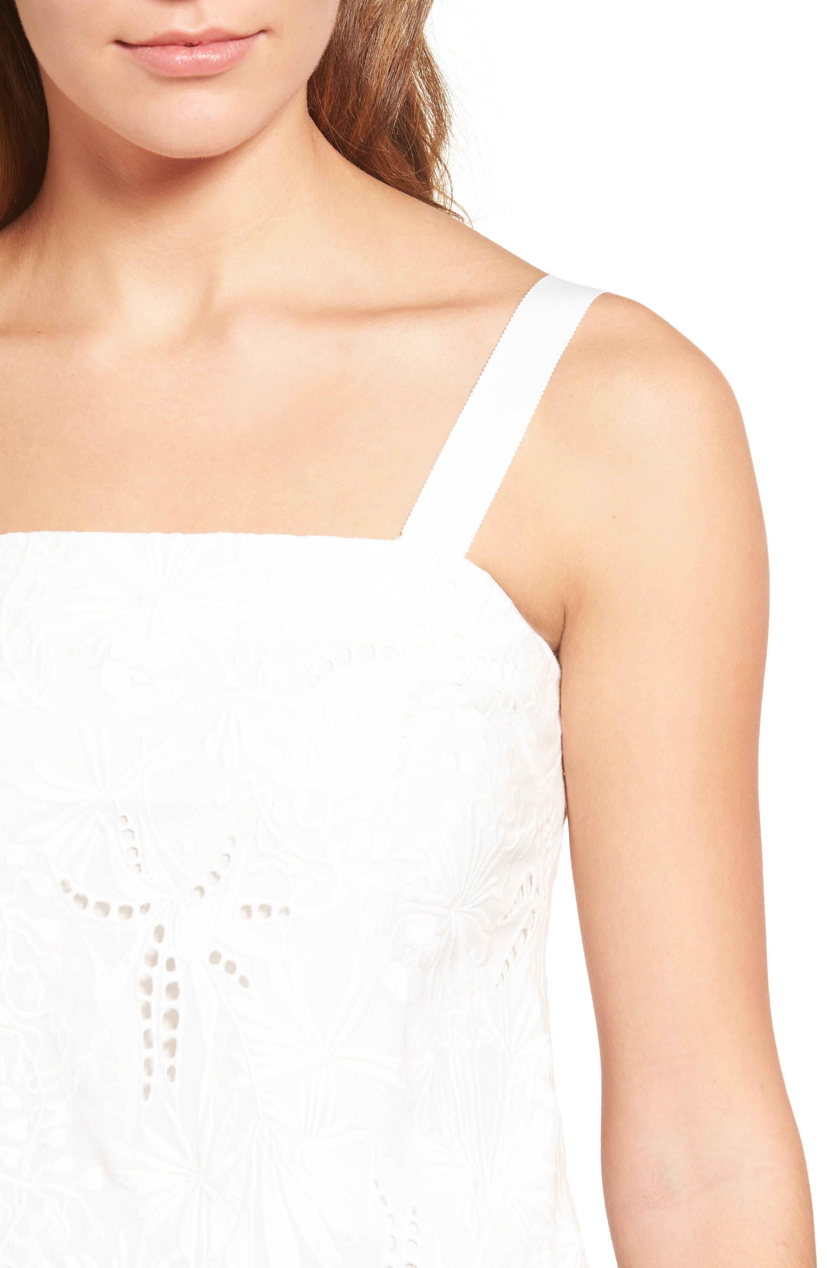 Alternate Image 4  - cooper & ella Camila Embroidered Cotton Tank