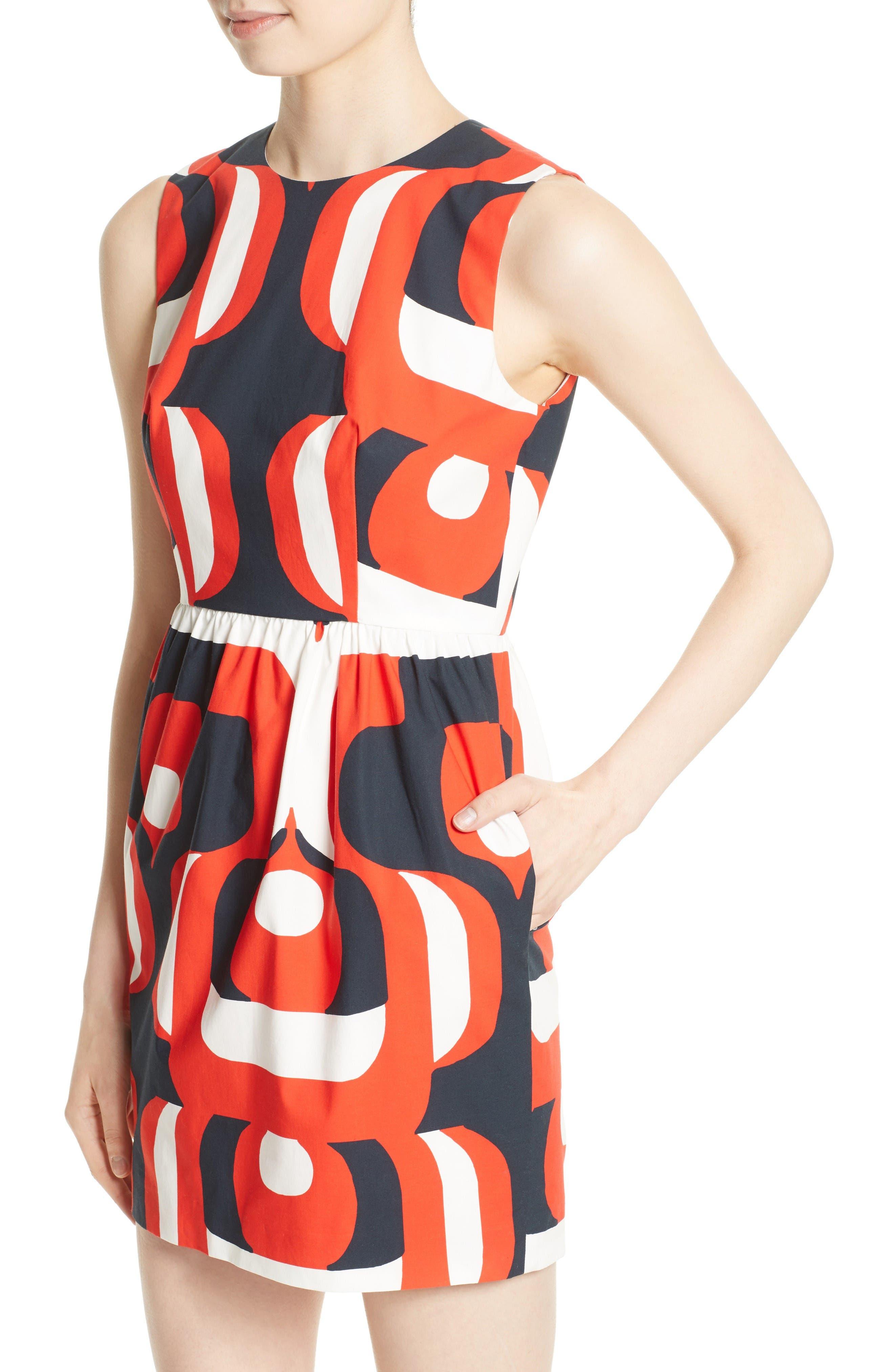 Alternate Image 4  - Milly Miranda Stretch Cotton Minidress