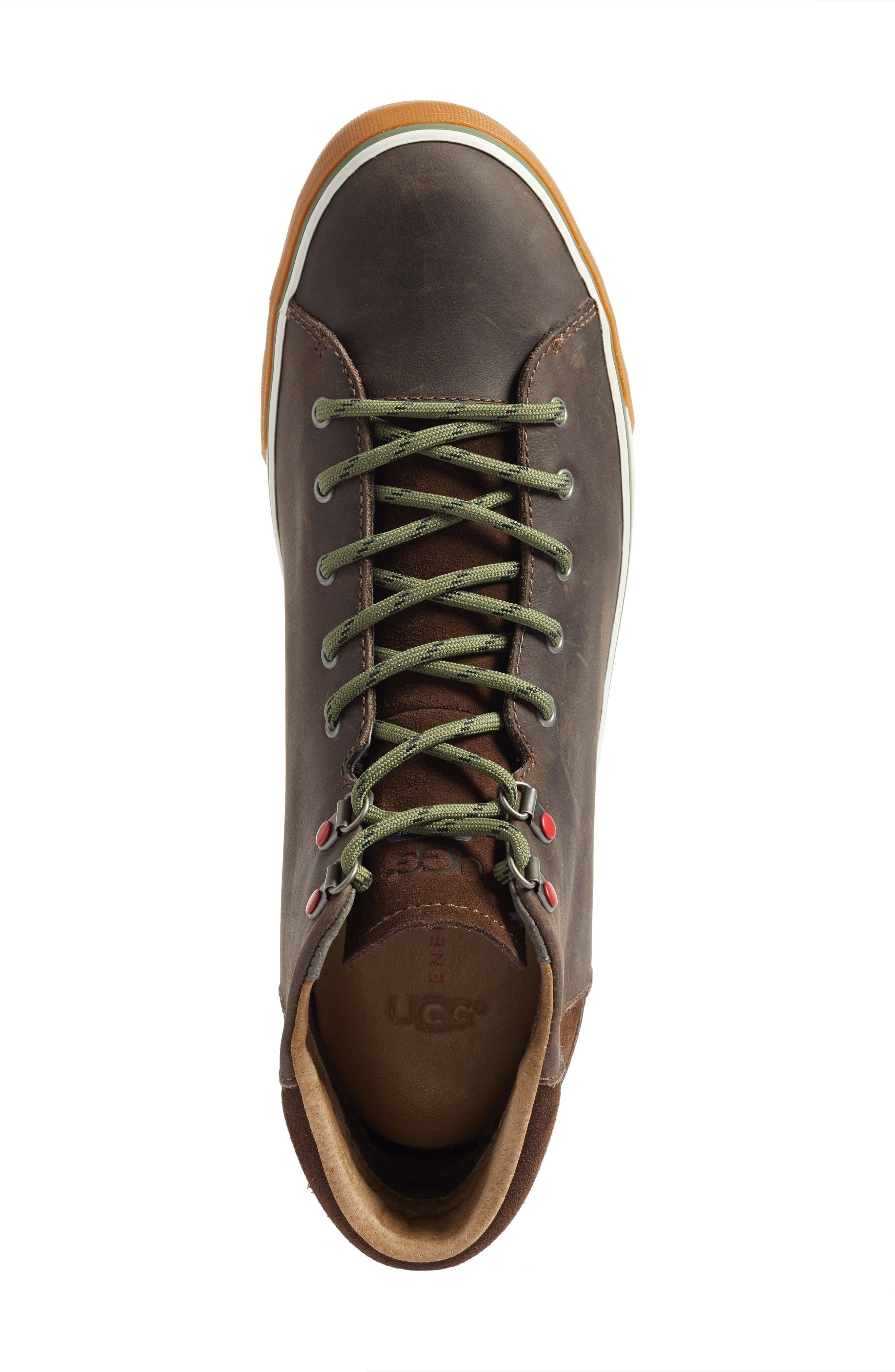 Hoyt High Top Sneaker,                             Alternate thumbnail 5, color,                             Grizzly