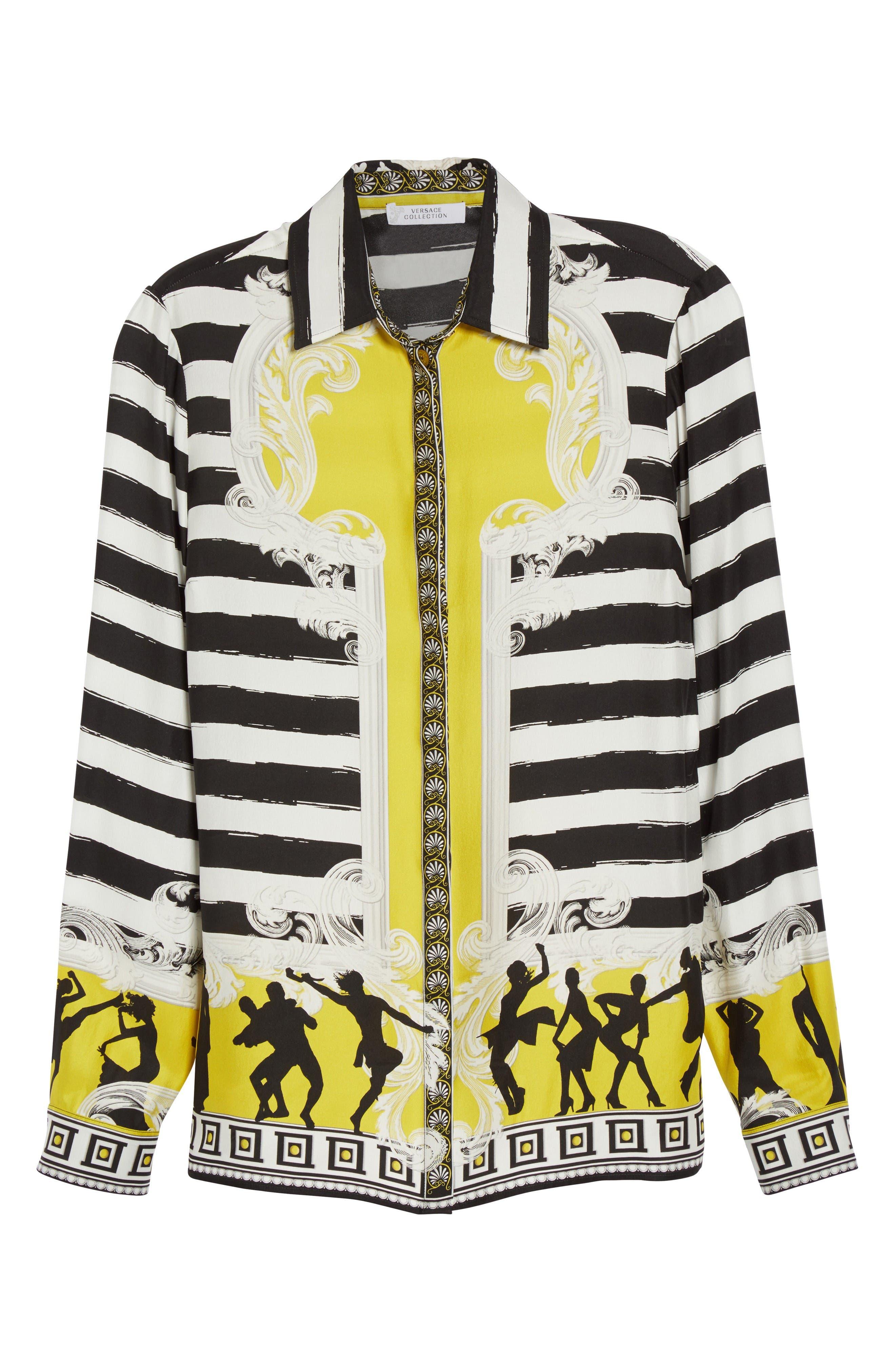 Alternate Image 4  - Versace Collection Catwalk Print Silk Blouse